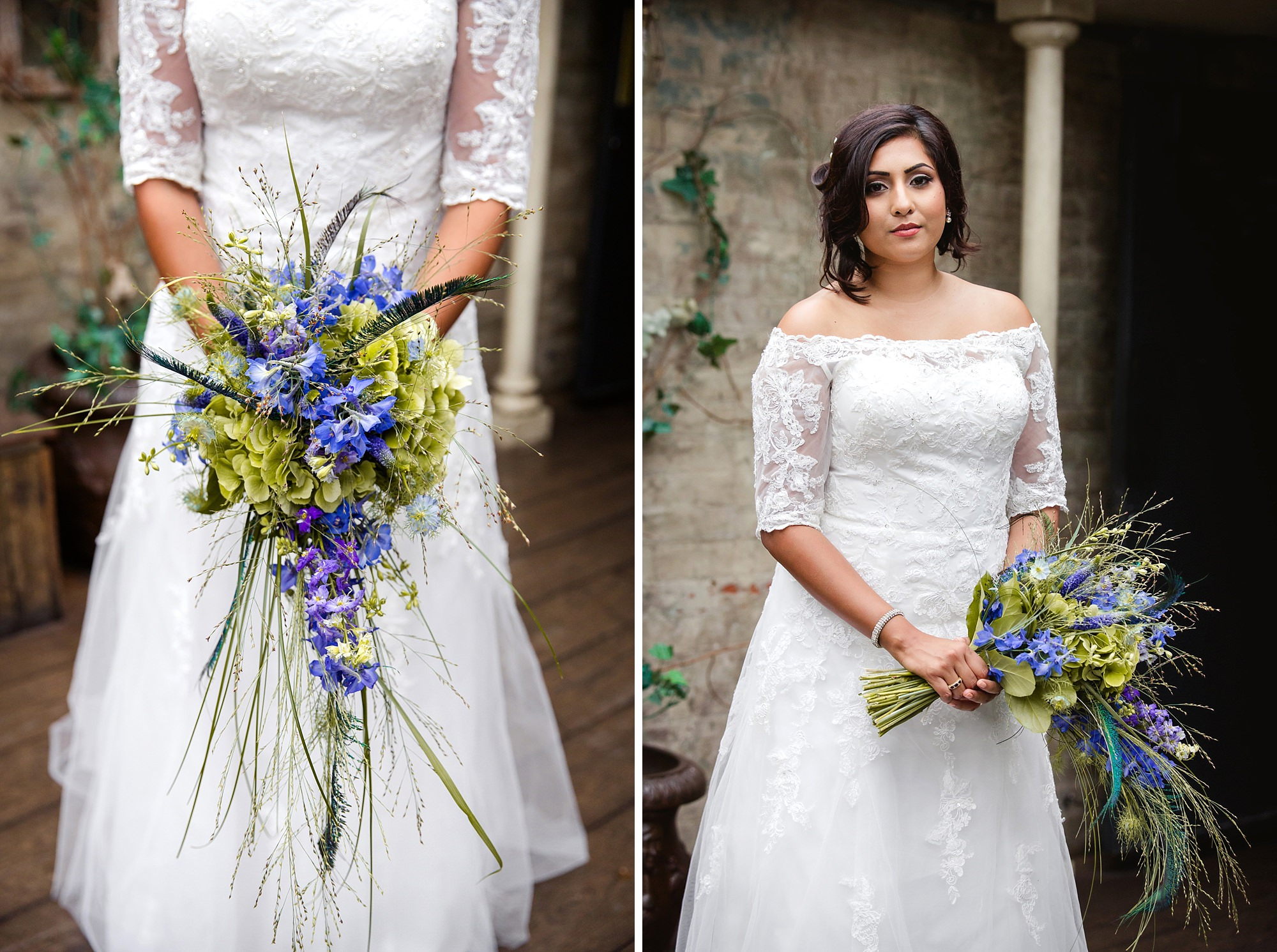 Paradise by way of Kensal Green wedding bride and bouquet