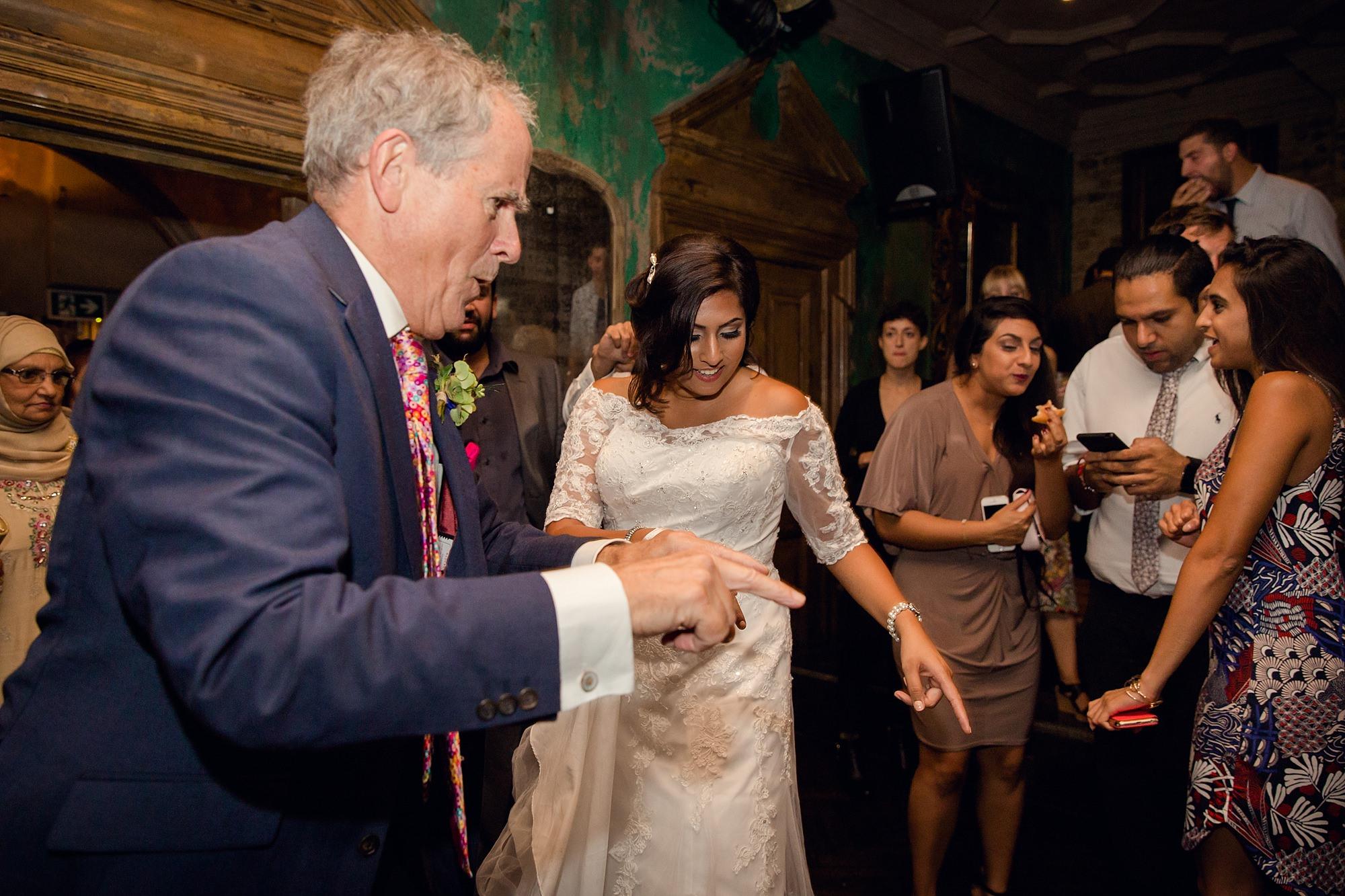 Paradise by way of Kensal Green wedding bride dancing