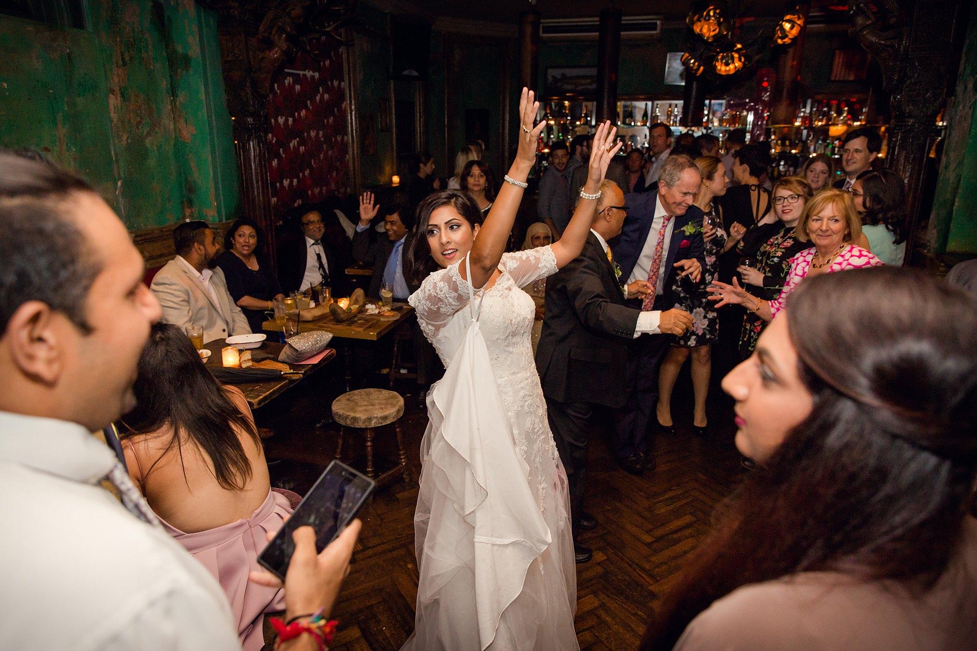 Paradise by way of Kensal Green wedding dancing bride