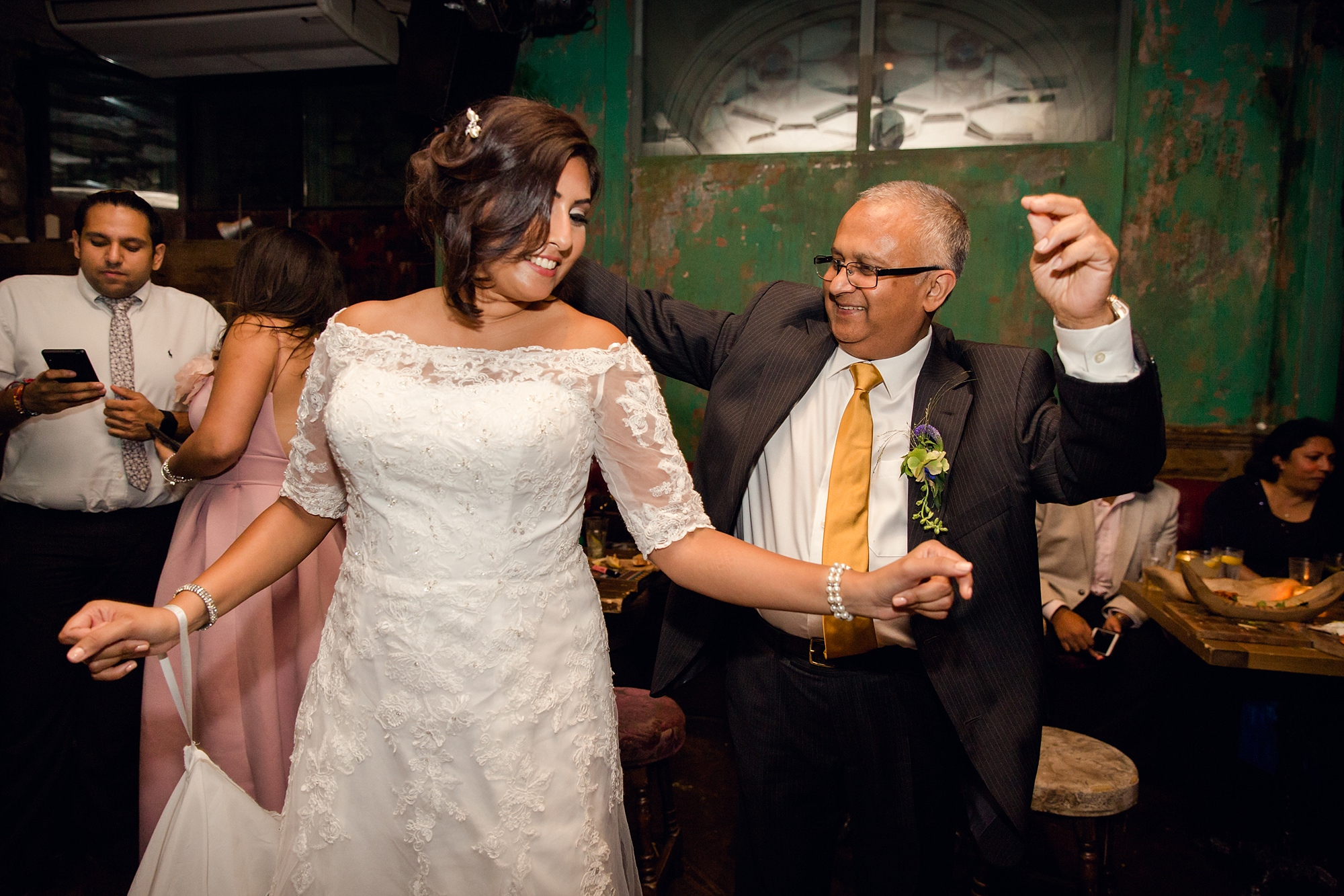 Paradise by way of Kensal Green wedding bride dancing with her dad