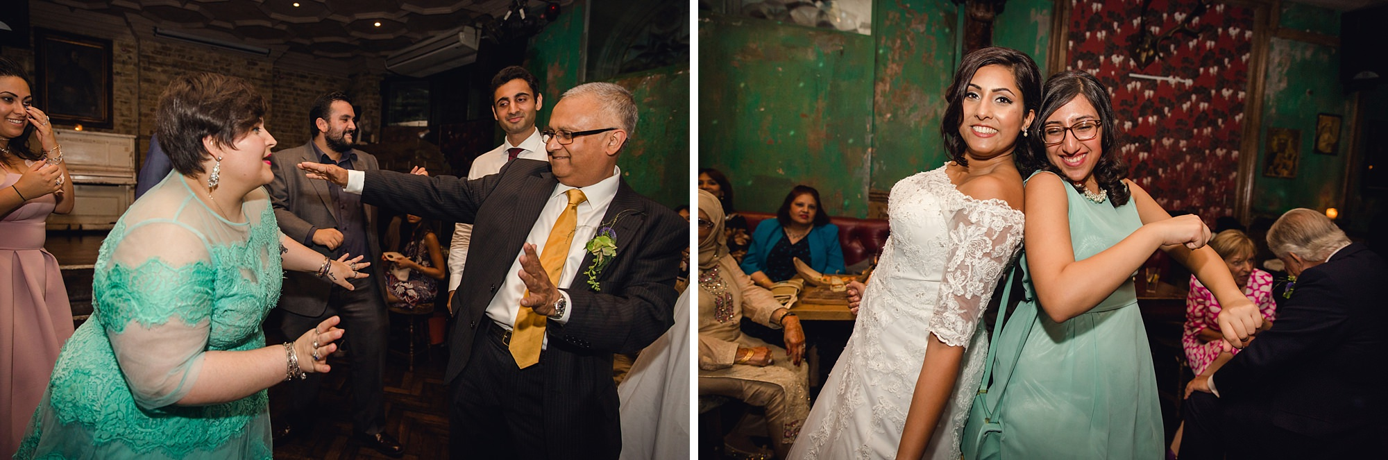 Paradise by way of Kensal Green wedding fun dancing