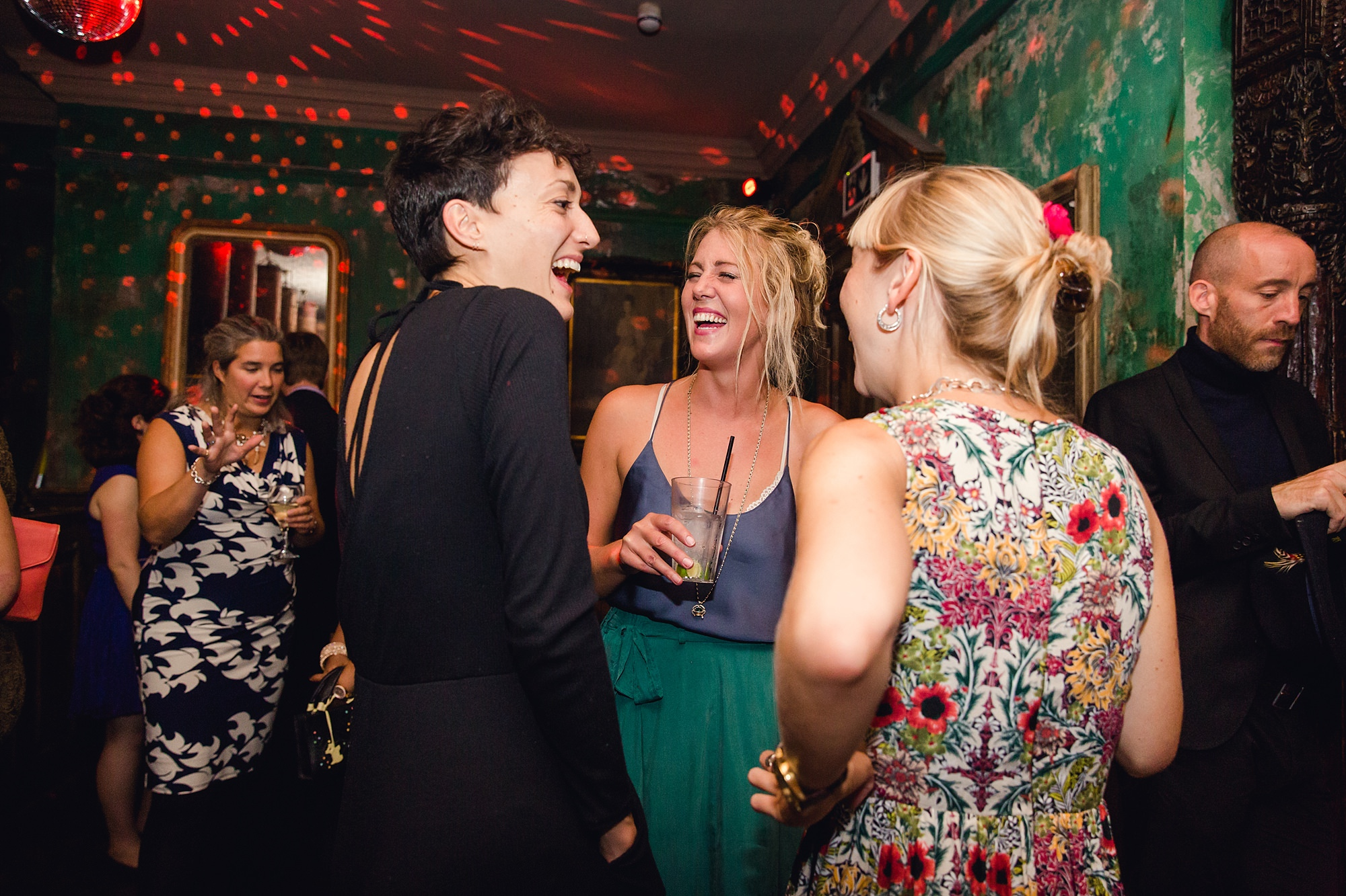 Paradise by way of Kensal Green wedding happy guests