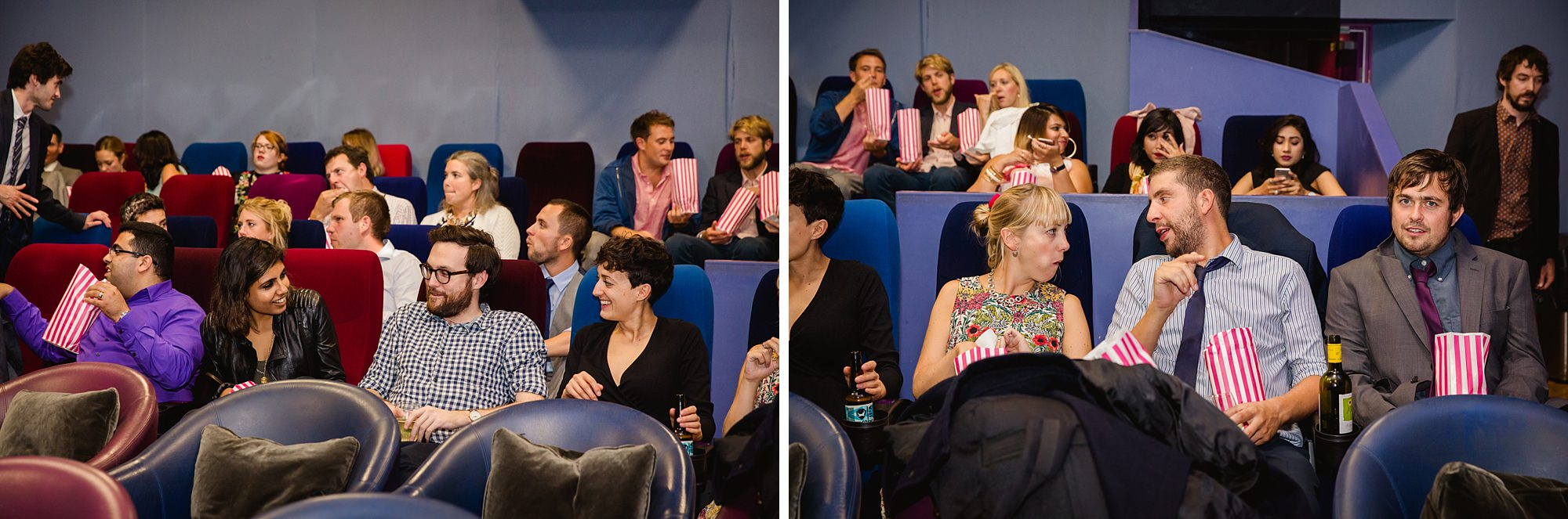 Paradise by way of Kensal Green wedding guests in cinema