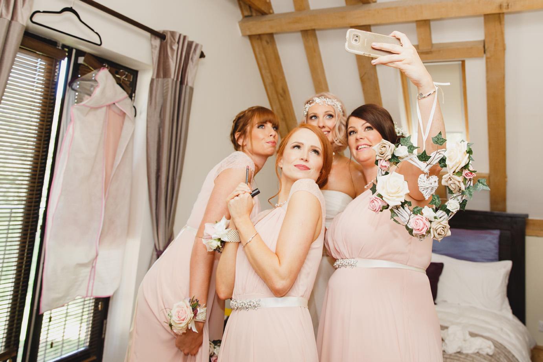 sarah ann wright bridal party selfie