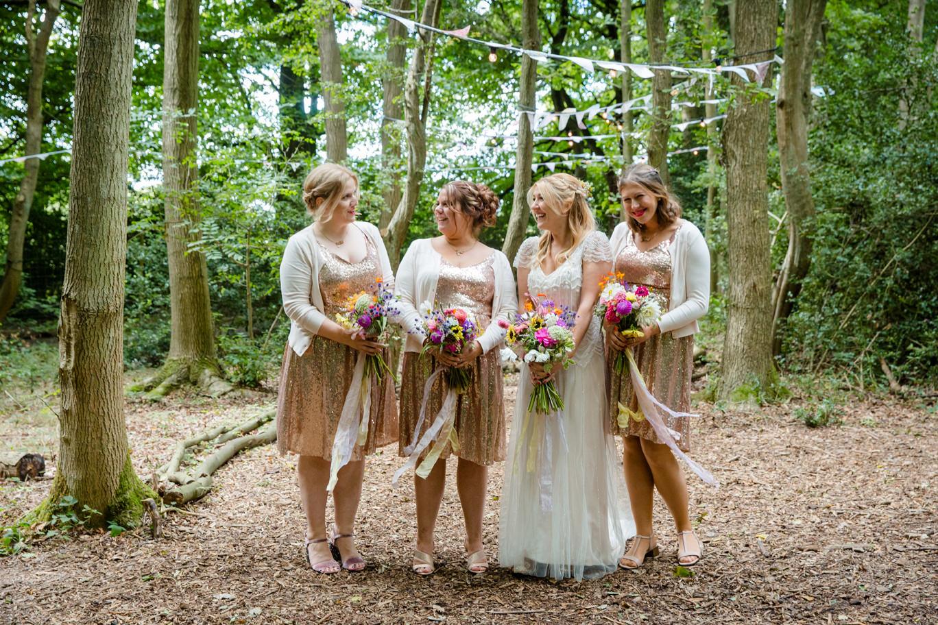 sarah ann wright bride and bridesmaids