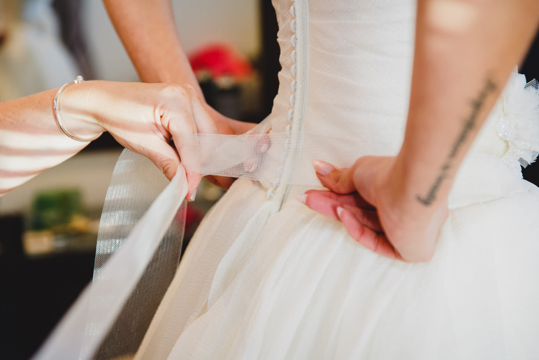 sarah ann wright doing up bride dress