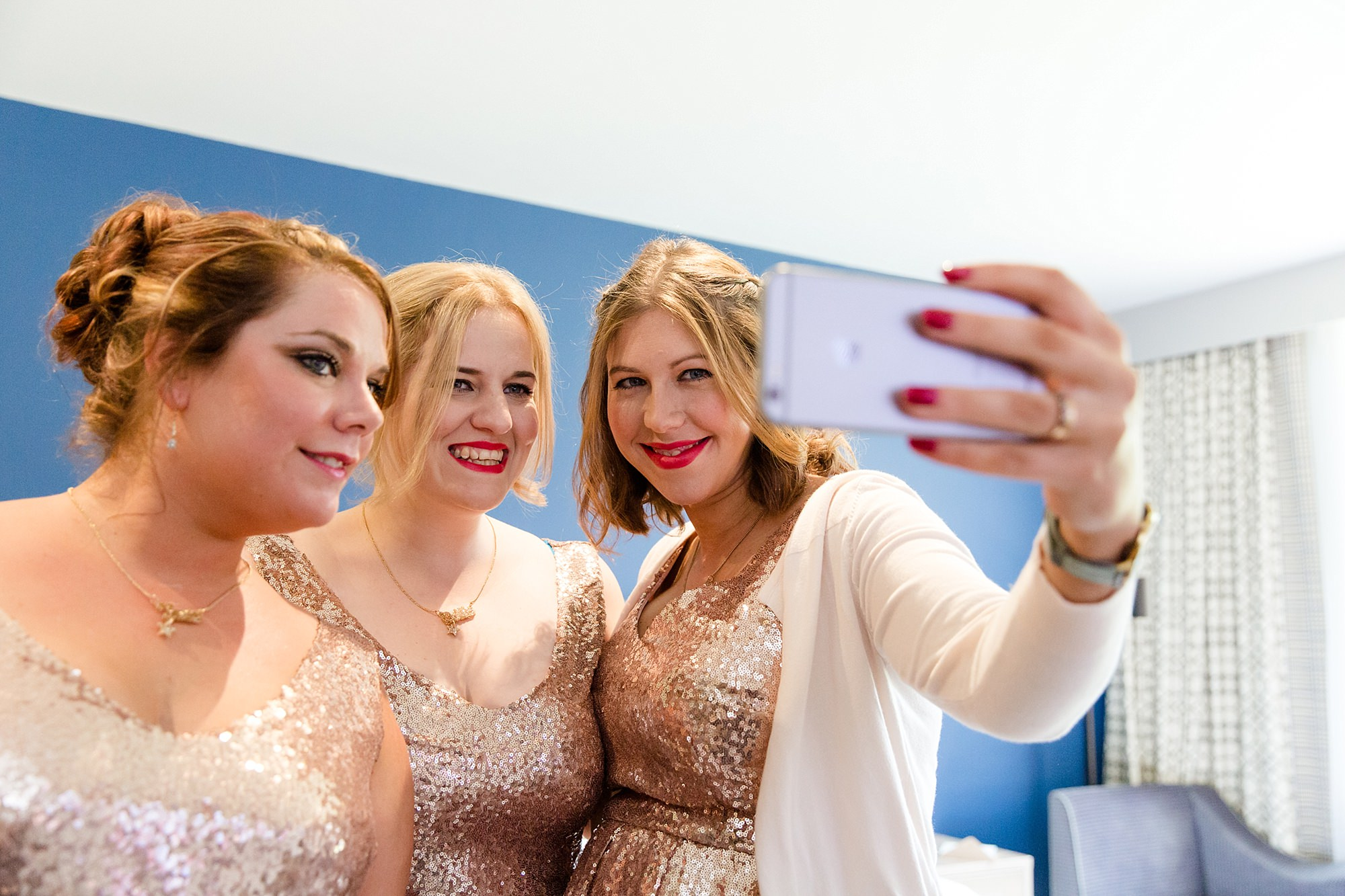 Woodland Weddings Tring bridesmaids selfie