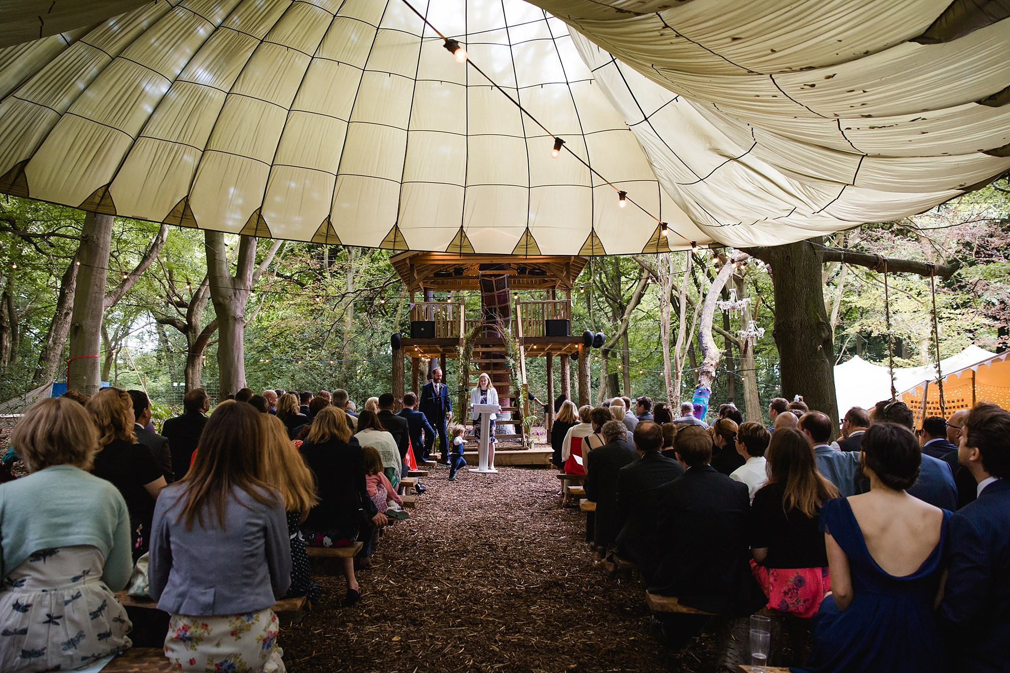 Woodland Weddings Tring outdoor ceremony