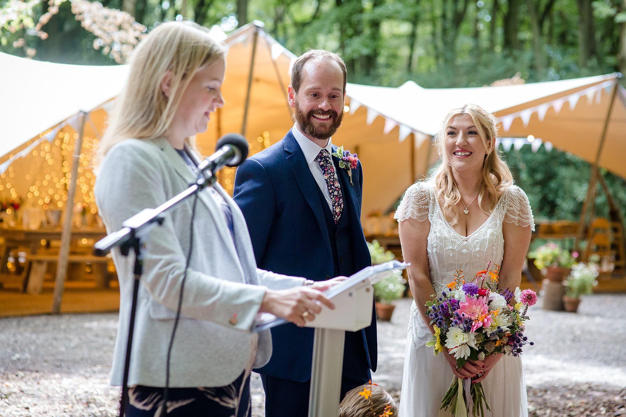 Woodland Weddings Tring bride and groom during ceremony