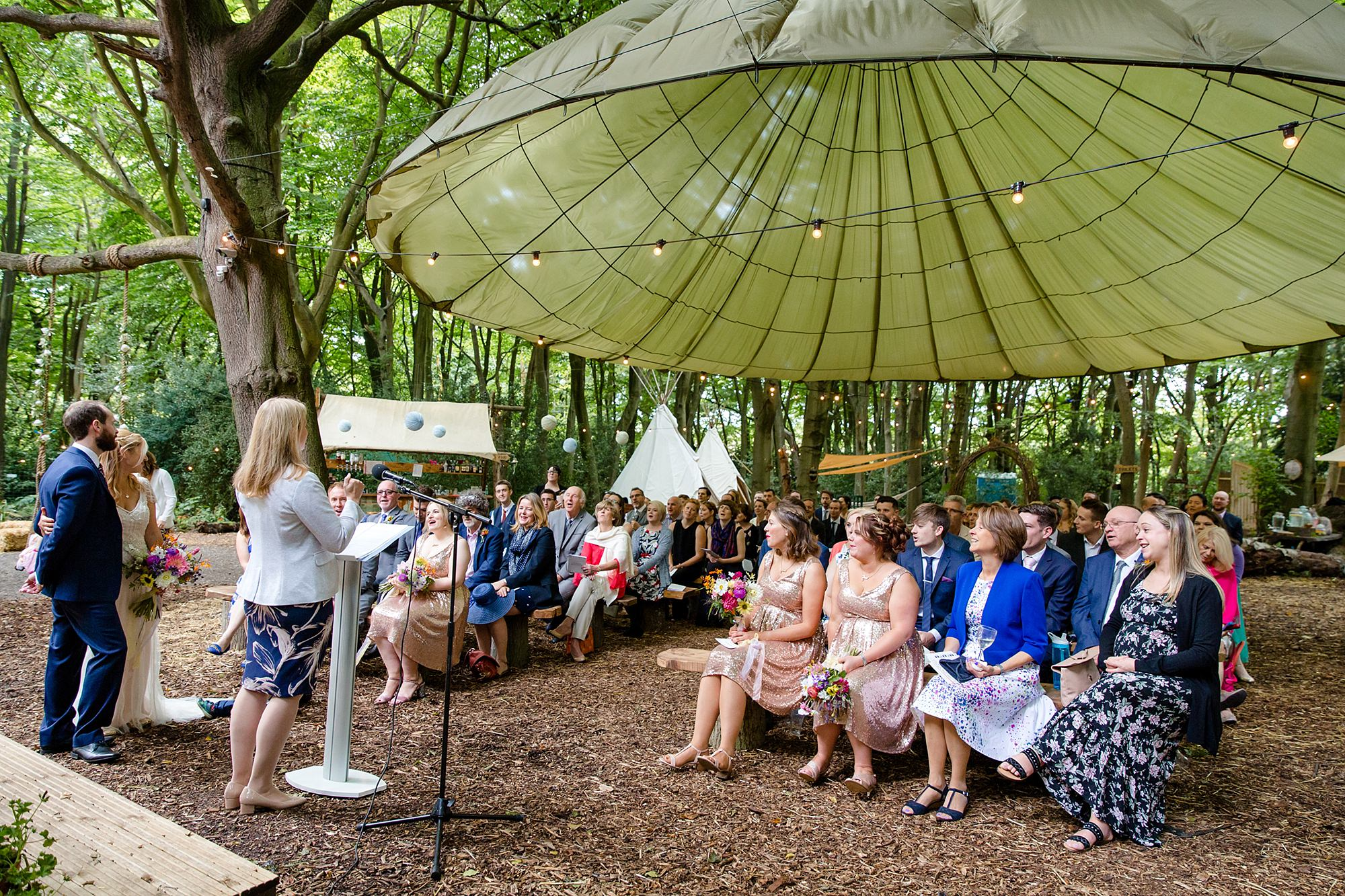 Woodland Weddings Tring wedding ceremony