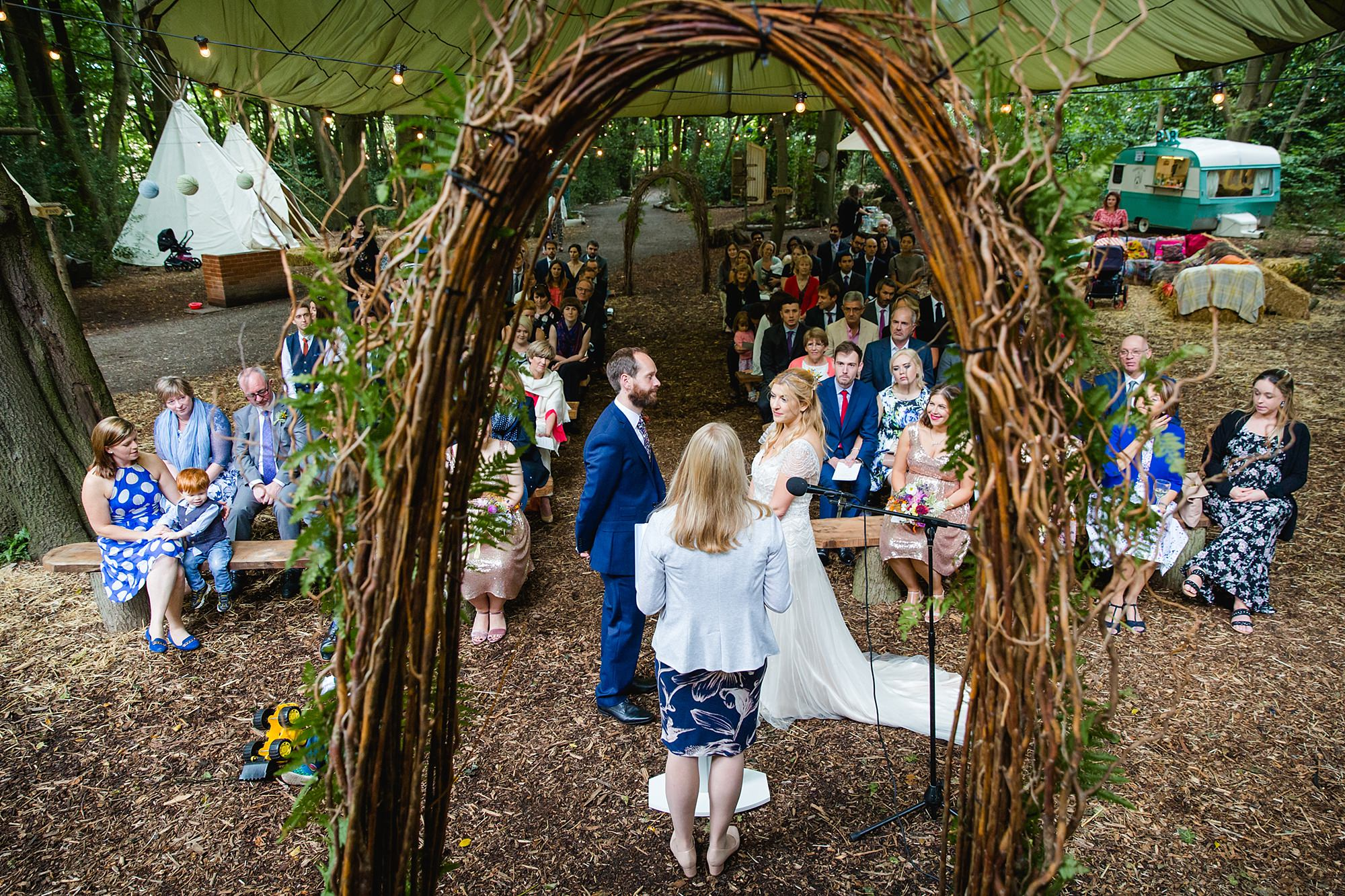 Woodland Weddings Tring ceremony