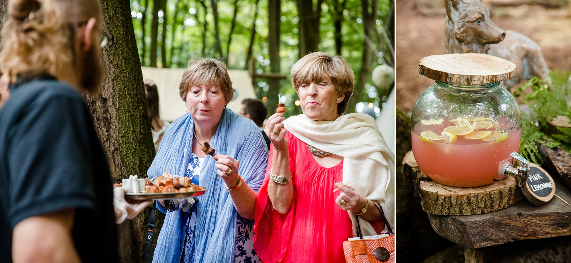 Woodland Weddings Tring wedding guests with canapés