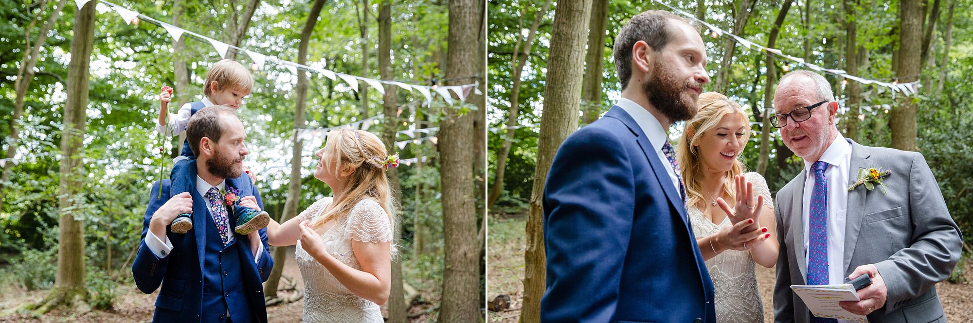 Woodland Weddings Tring bride with family