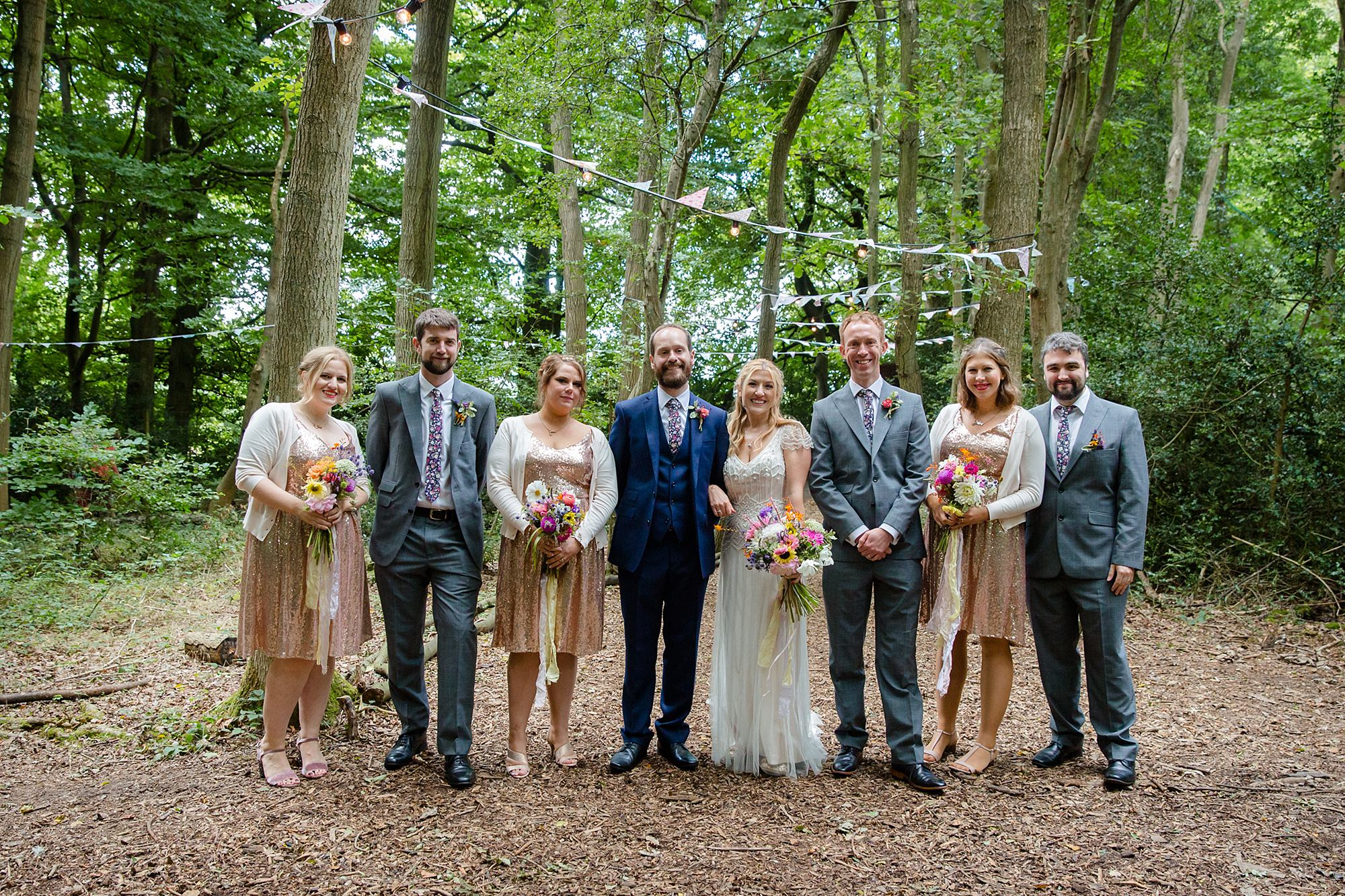 Woodland Weddings Tring bridal party