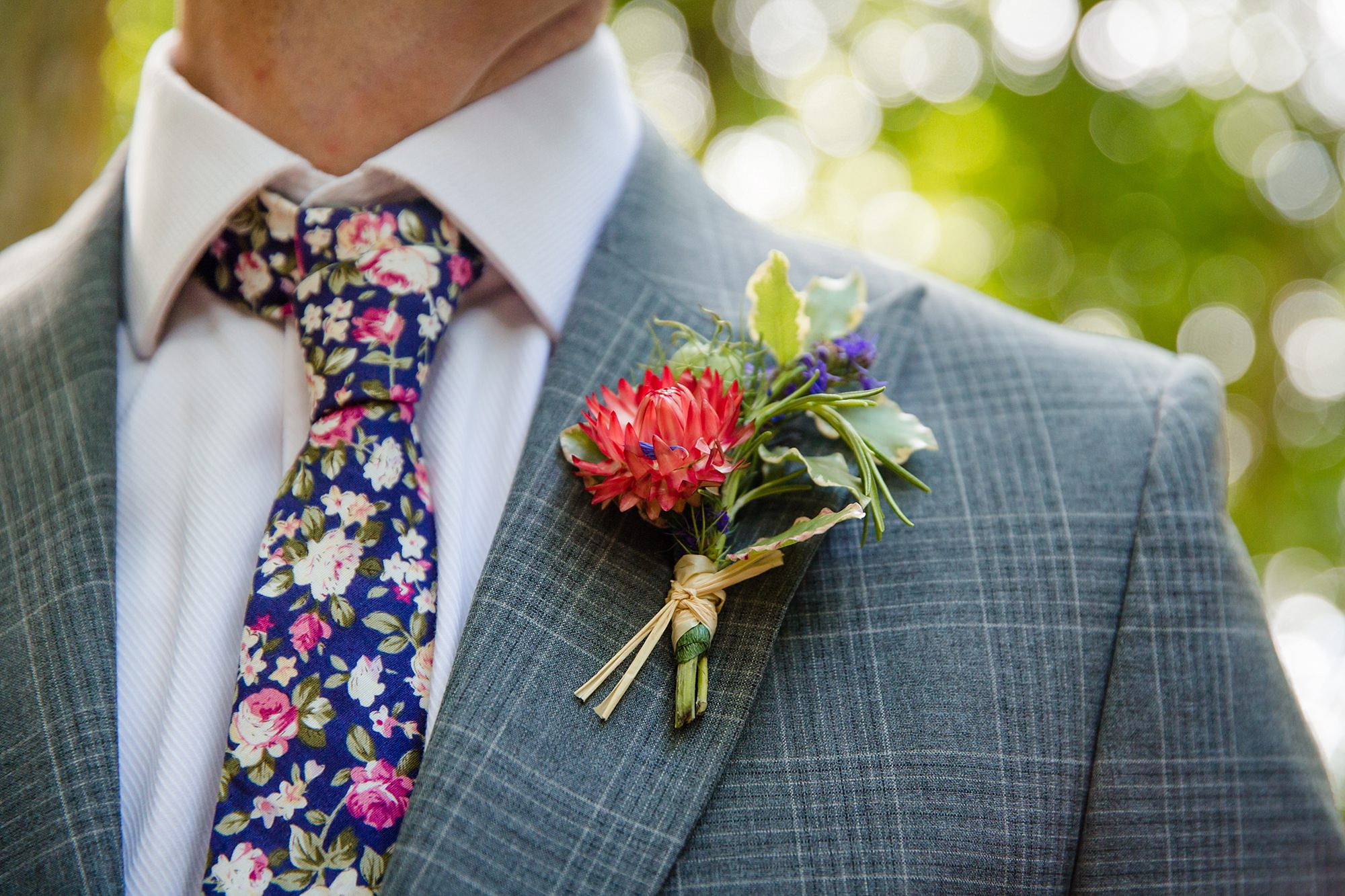 Woodland Weddings Tring groomsman's buttonhole