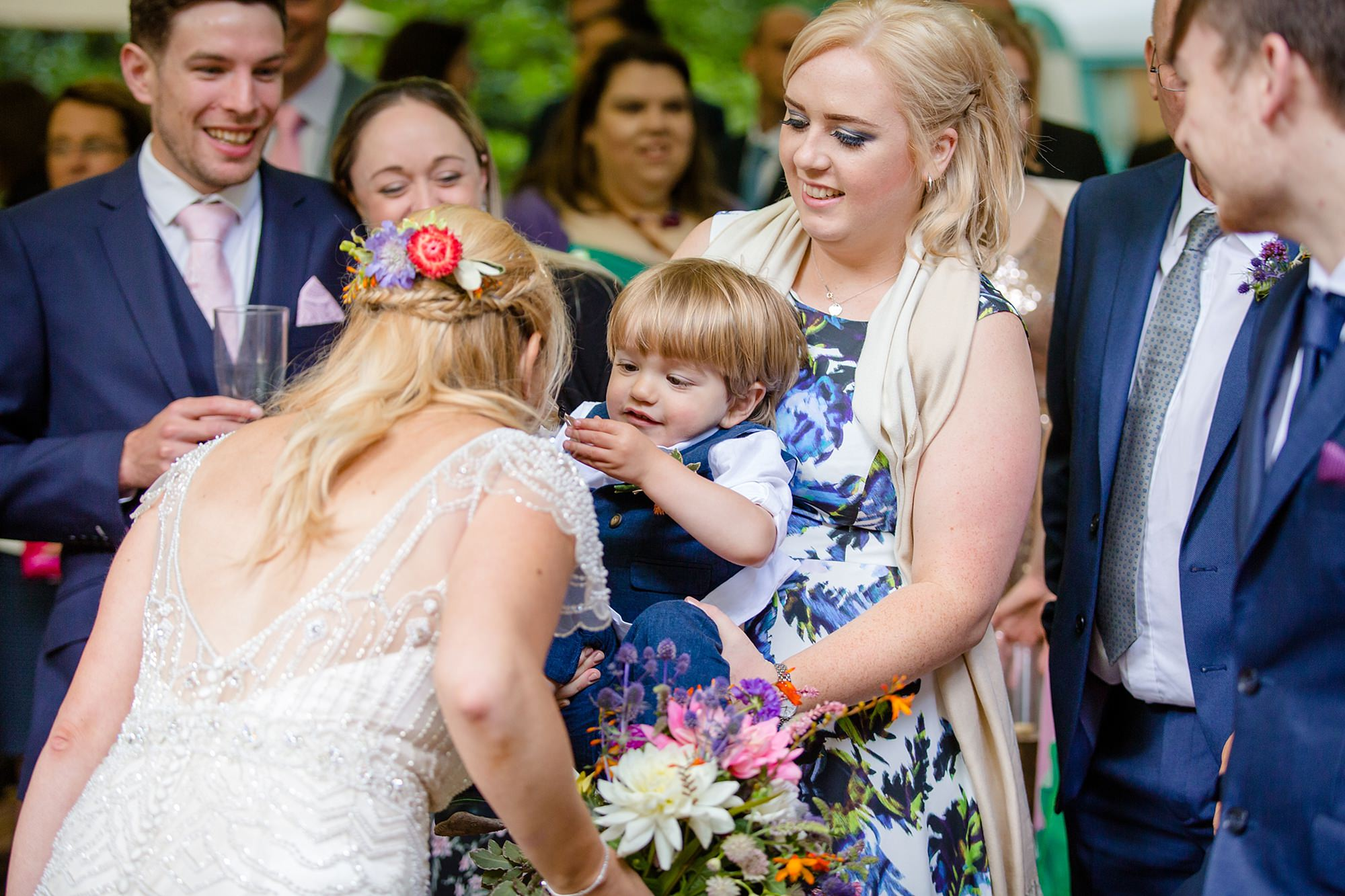 Woodland Weddings Tring bride and guests