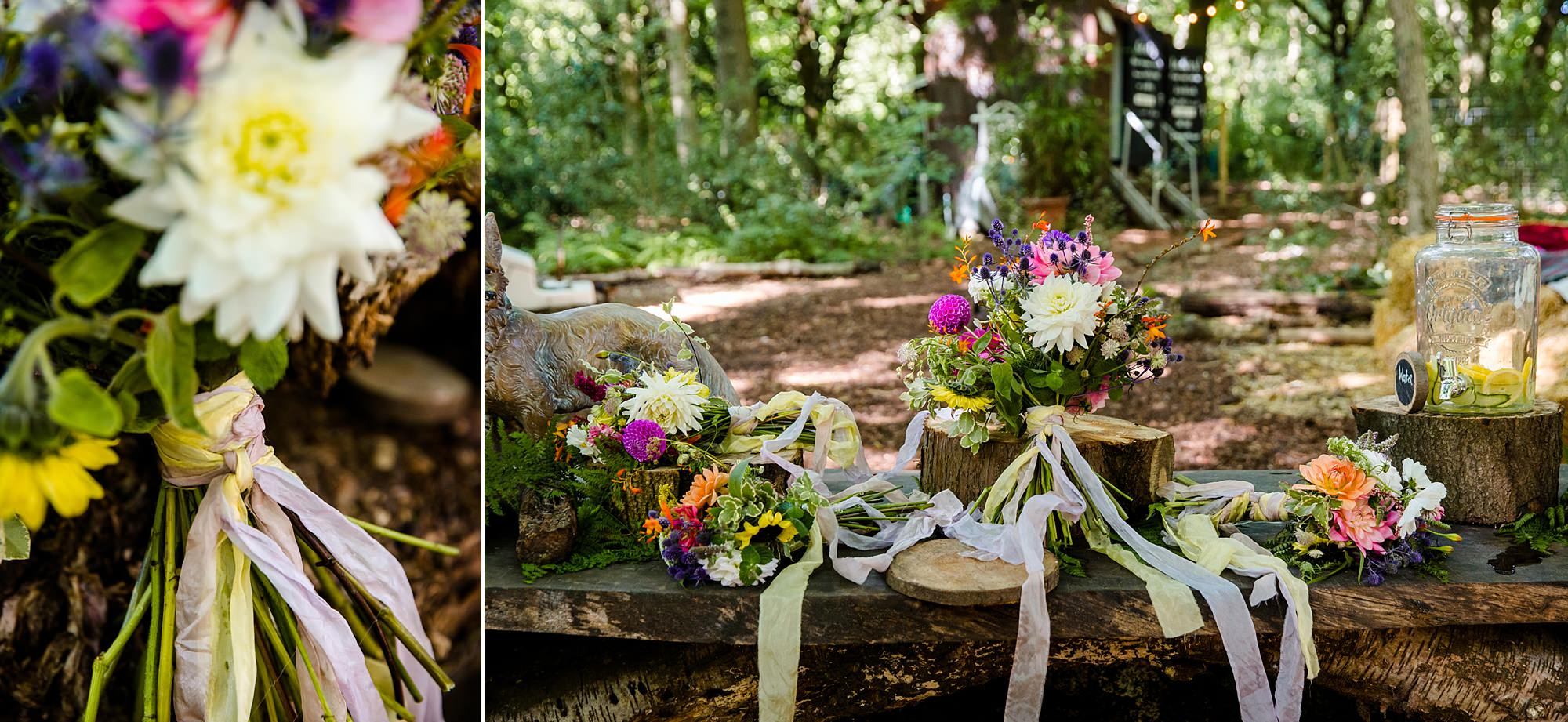 Woodland Weddings Tring bridal party bouquets