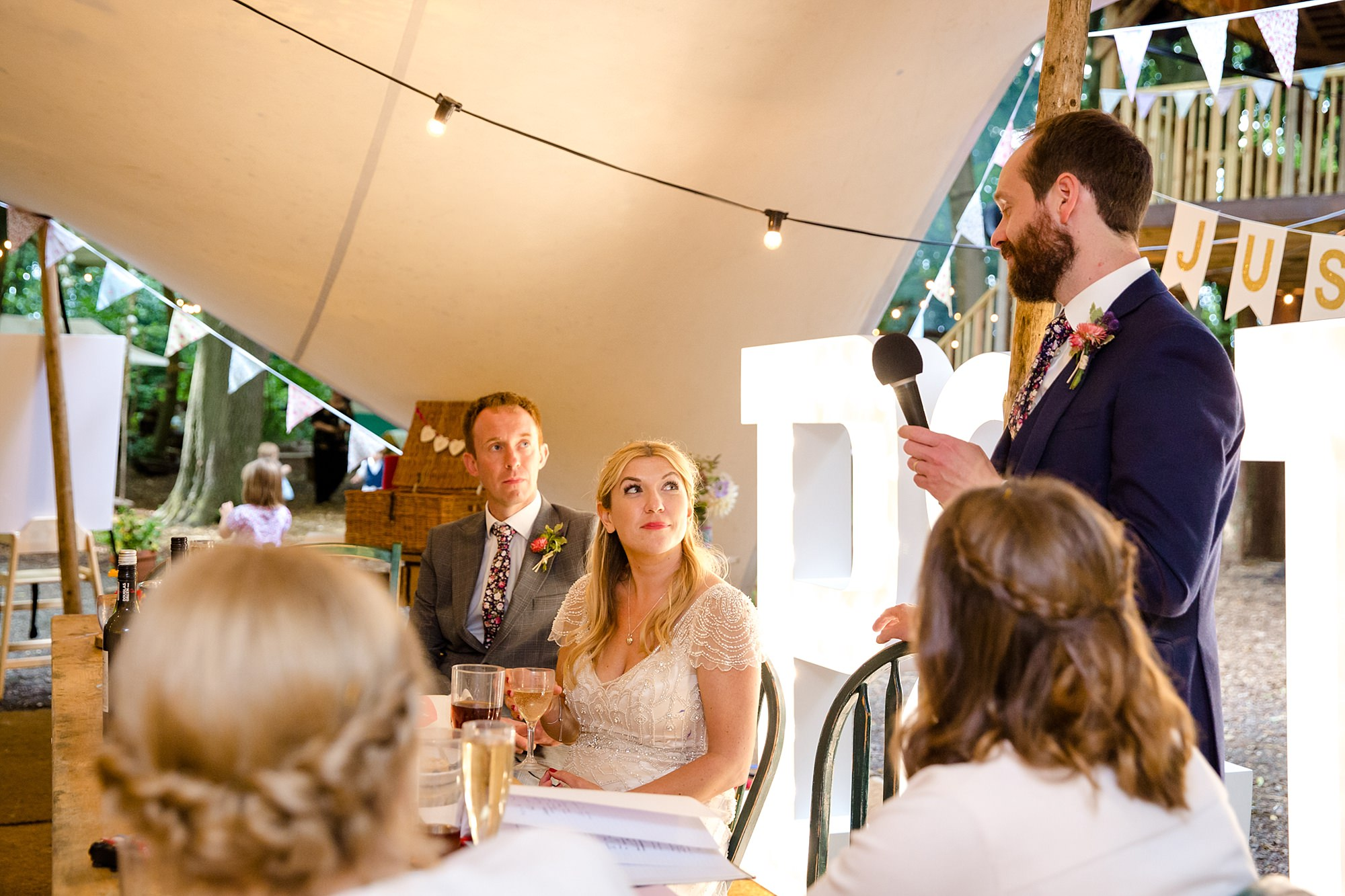 Woodland Weddings Tring groom's speech