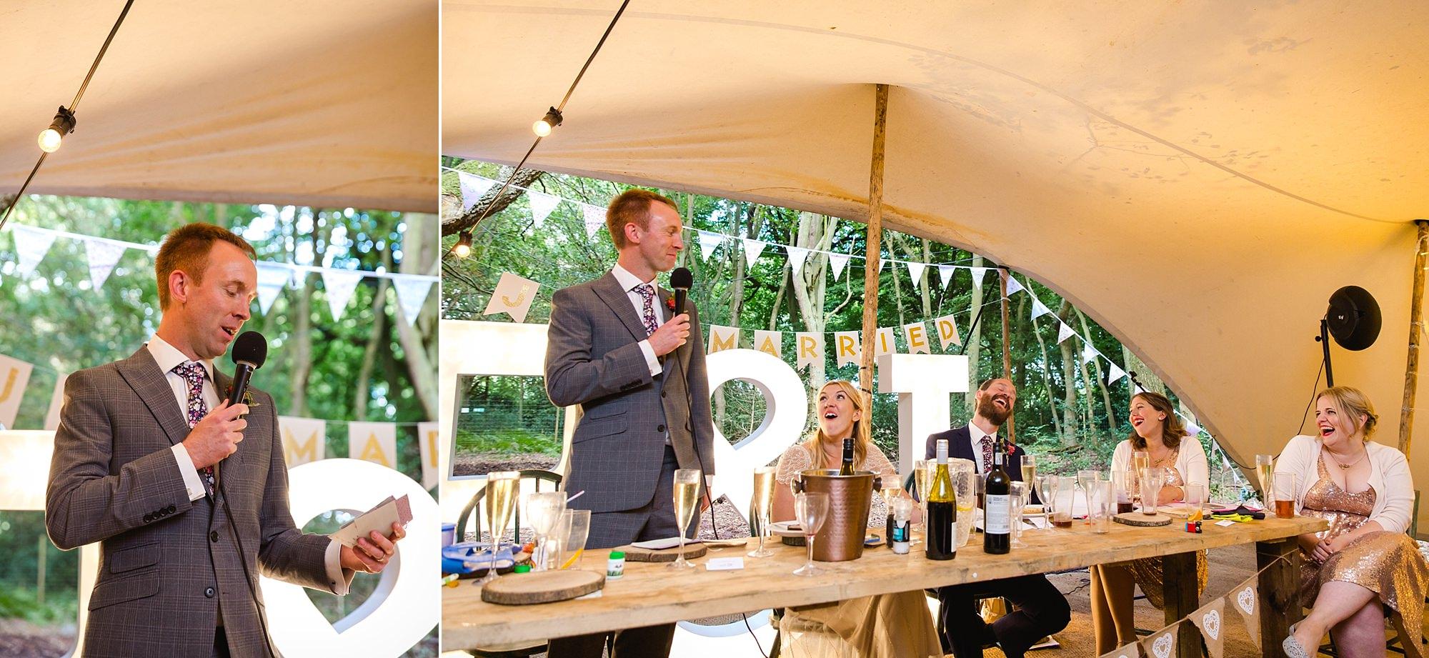 Woodland Weddings Tring best man speech