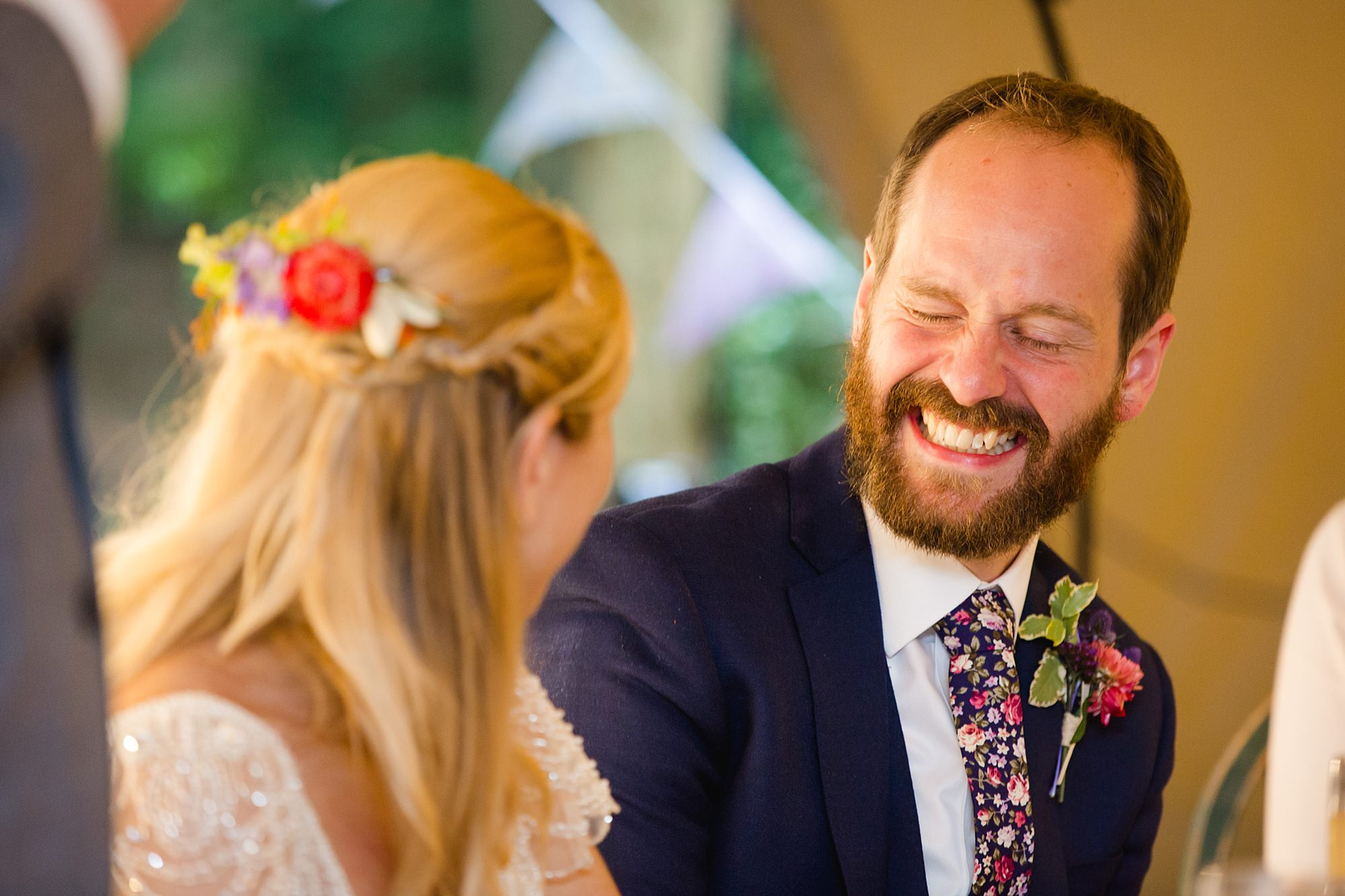 Woodland Weddings Tring groom cringes during speech
