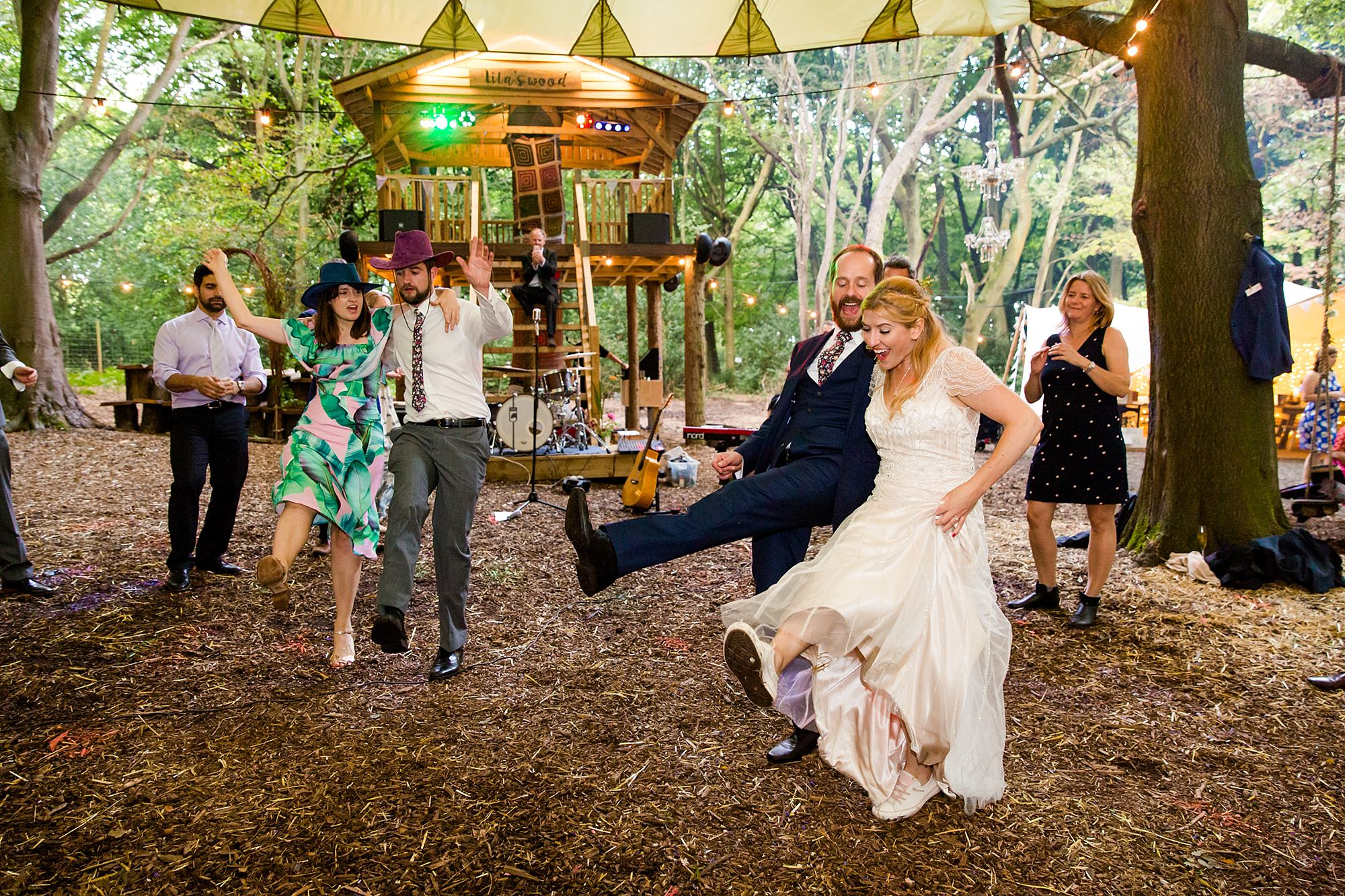 Woodland Weddings Tring swing wedding dancing