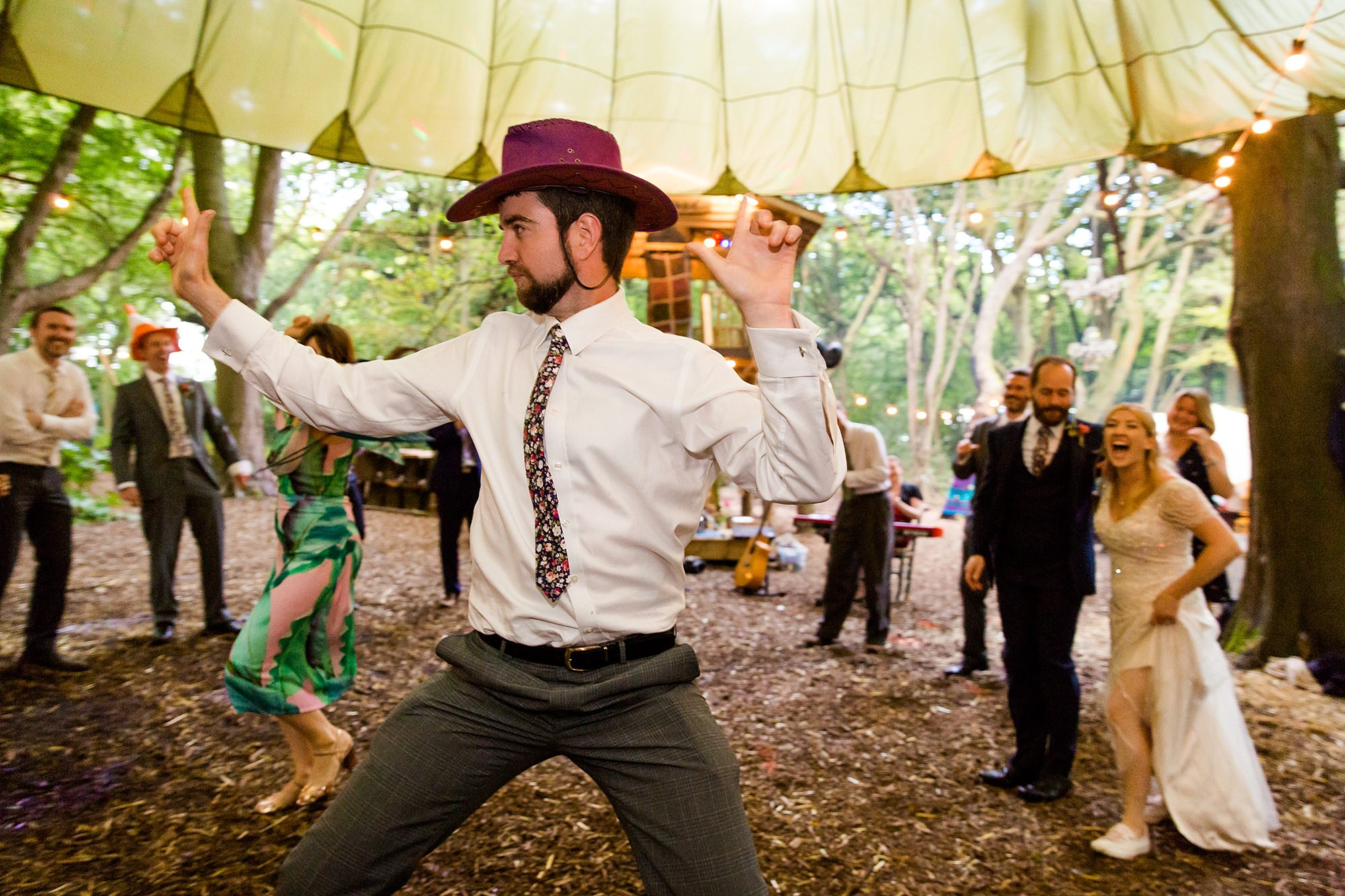 Woodland Weddings Tring fun dancing guest