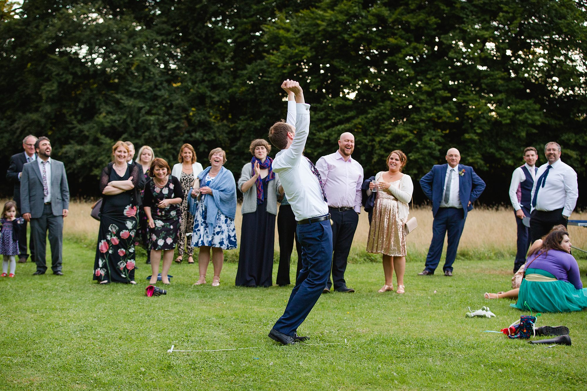Woodland Weddings Tring groom celebrates