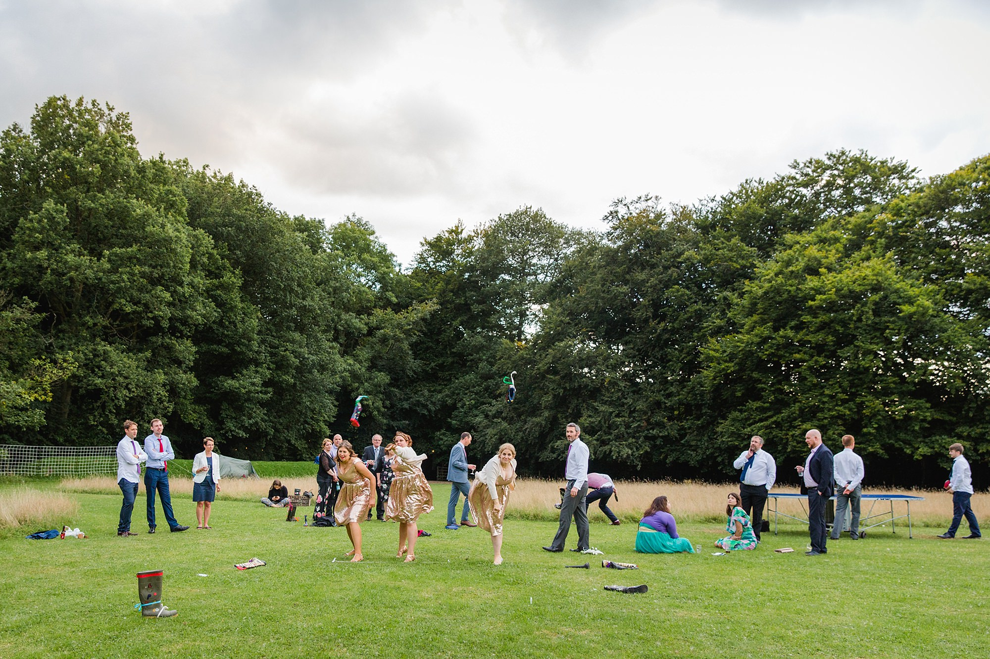 Woodland Weddings Tring bridesmaids welly wanging