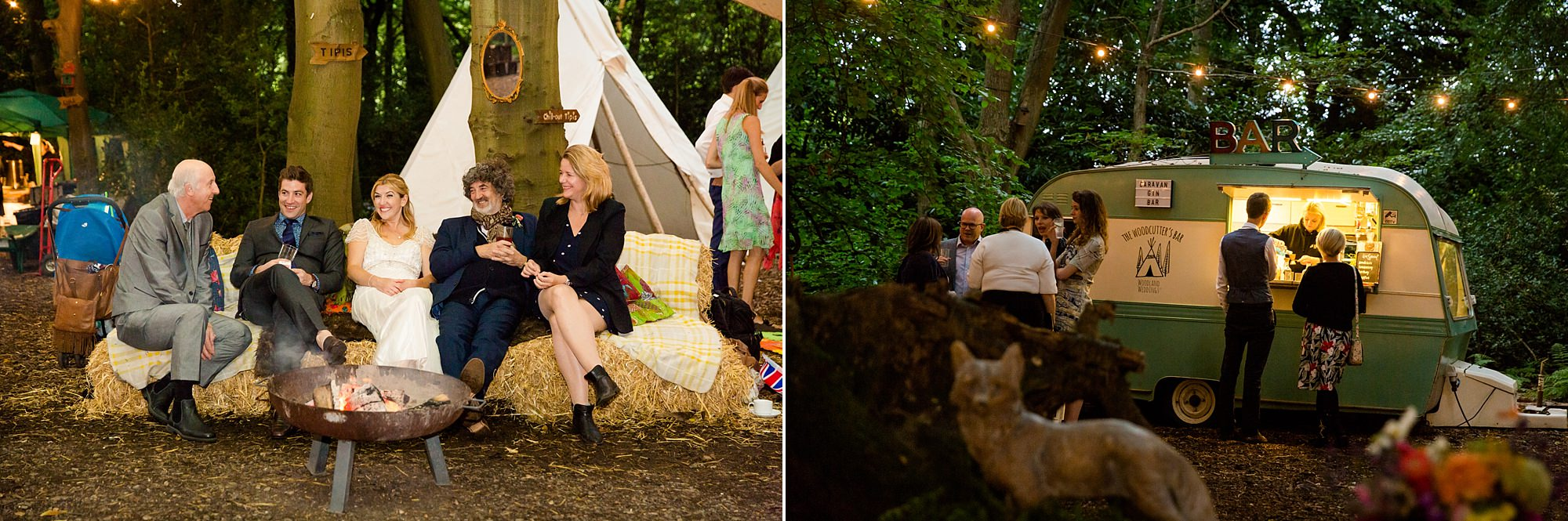 Woodland Weddings Tring evening guests