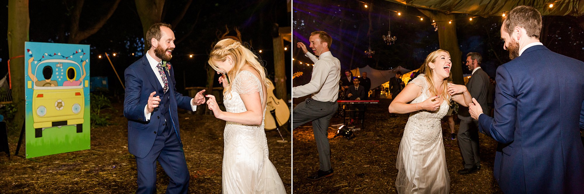 Woodland Weddings Tring bride and groom dancing