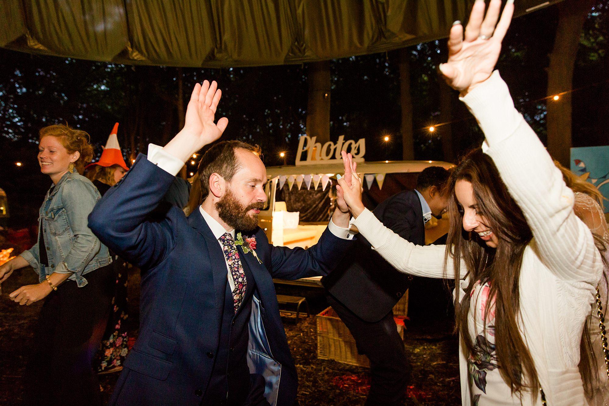 Woodland Weddings Tring dancing groom