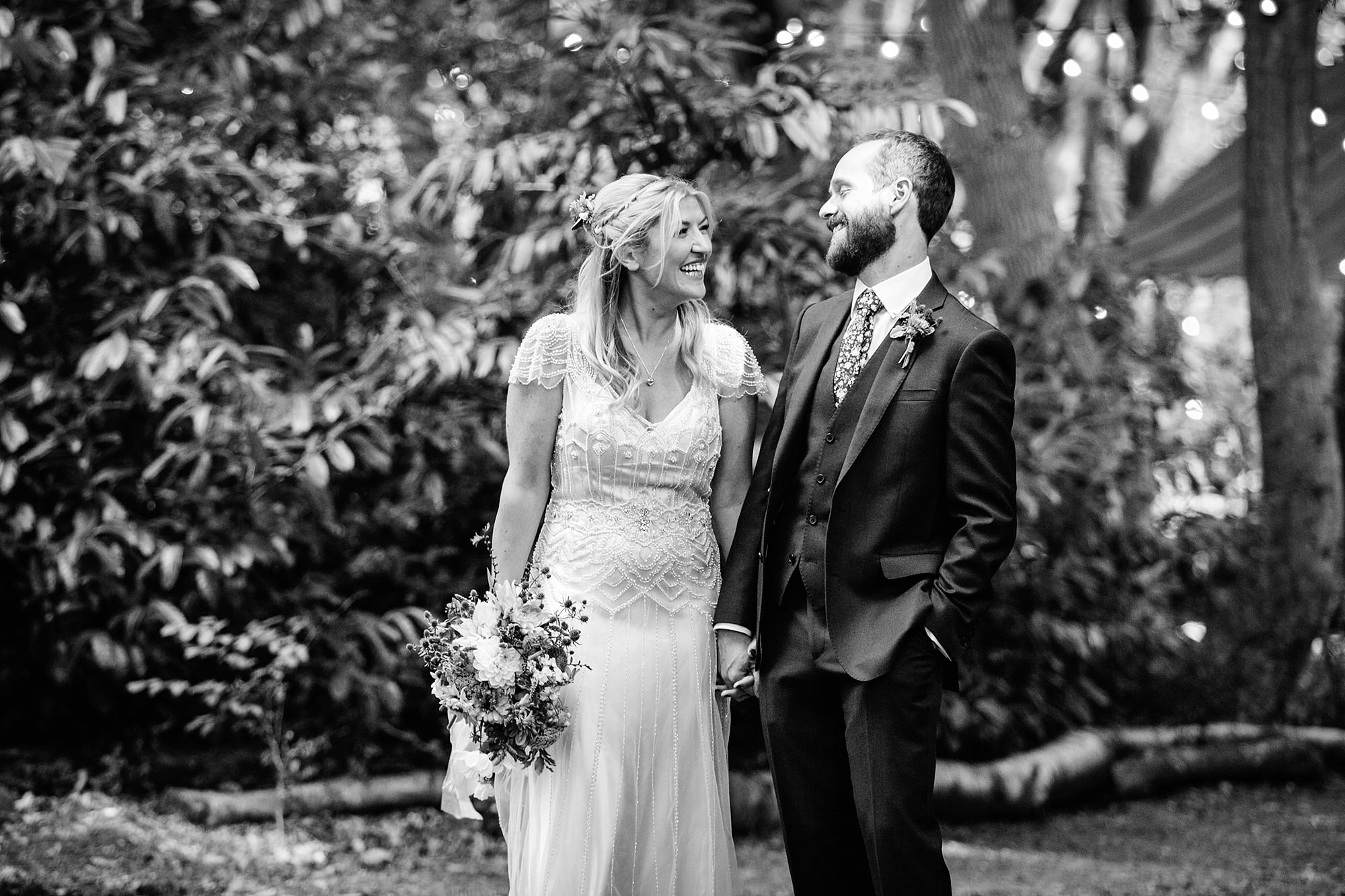 Woodland Weddings Tring bride and groom together