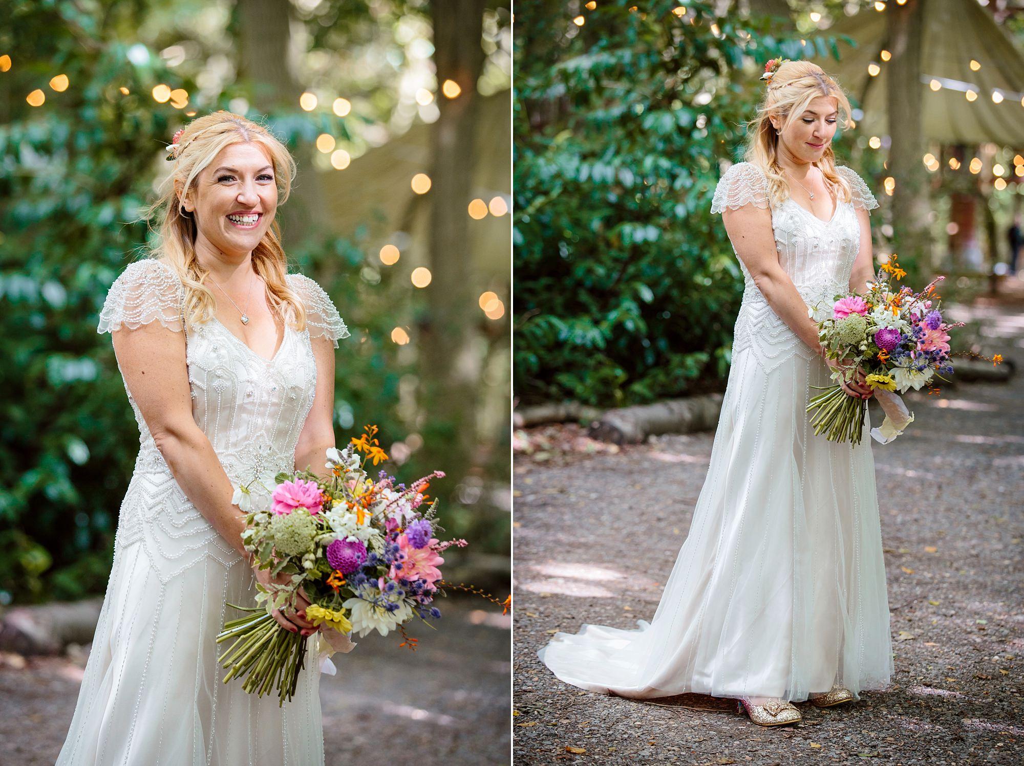 Woodland Weddings Tring portrait of bride