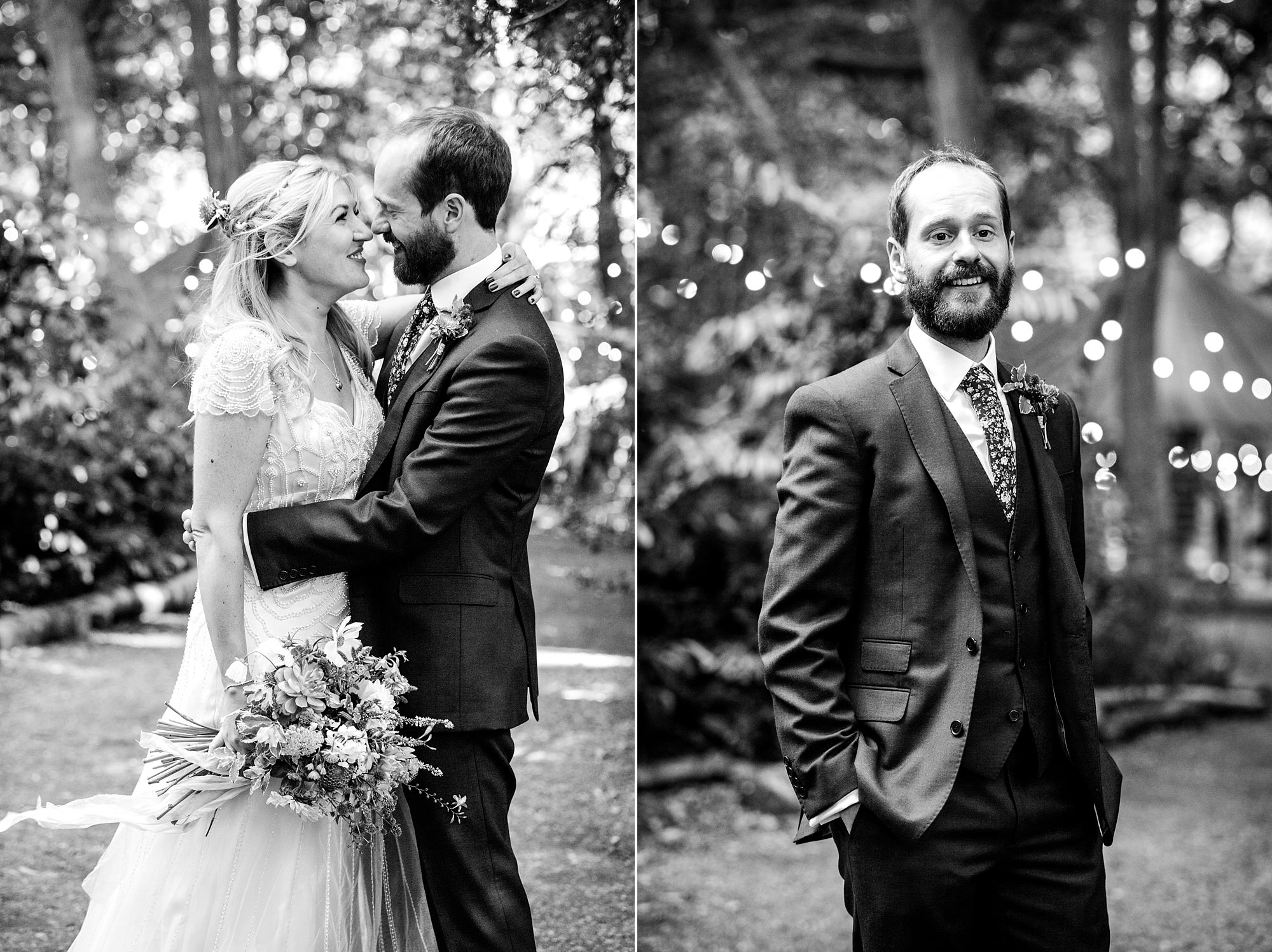 Woodland Weddings Tring bride and groom portrait