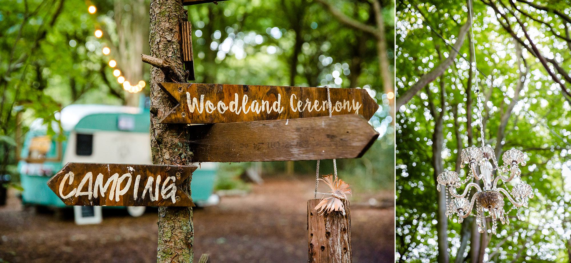 Woodland Weddings Tring signposts