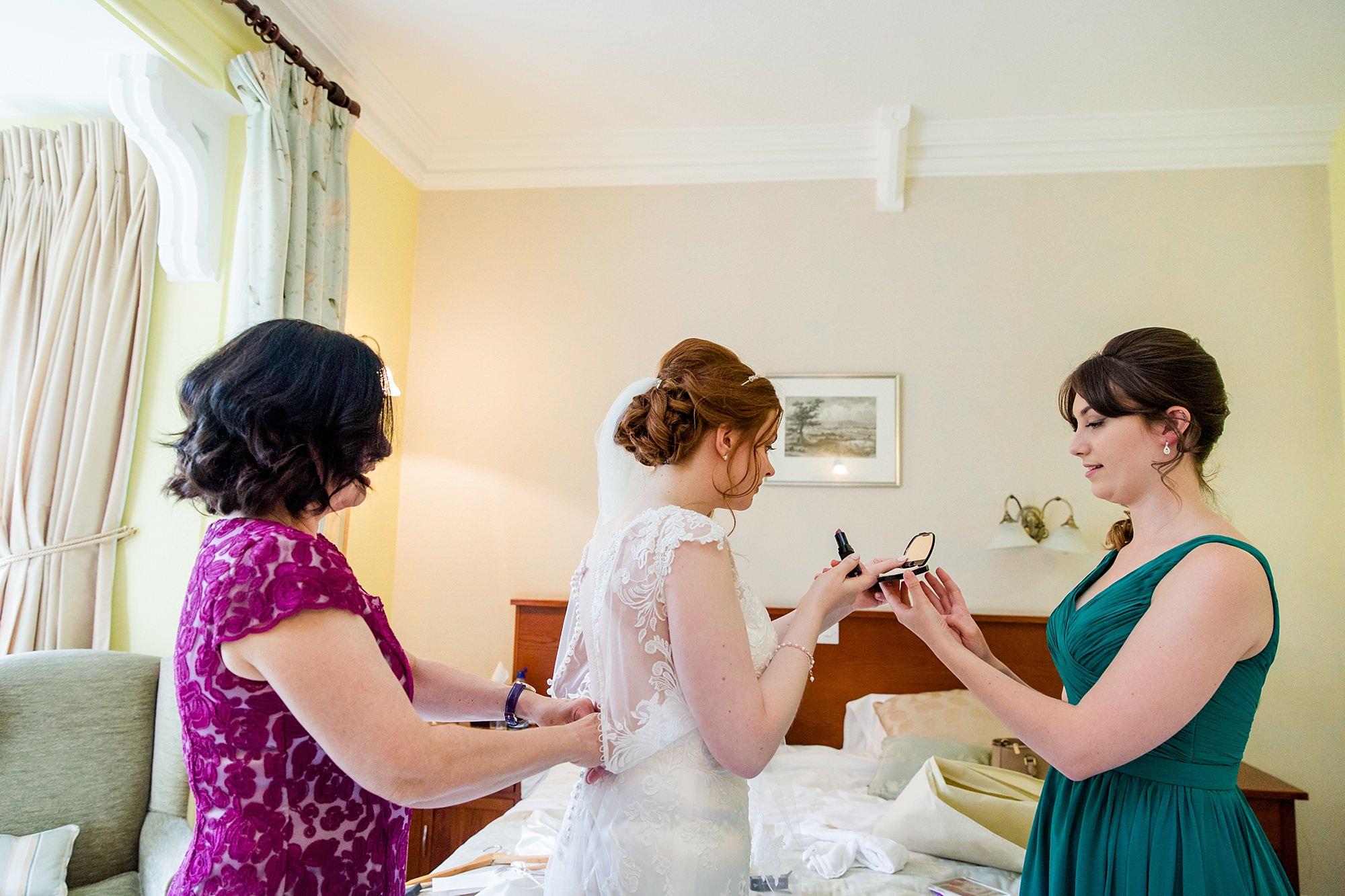 Canon Lane Chichester wedding bride getting ready
