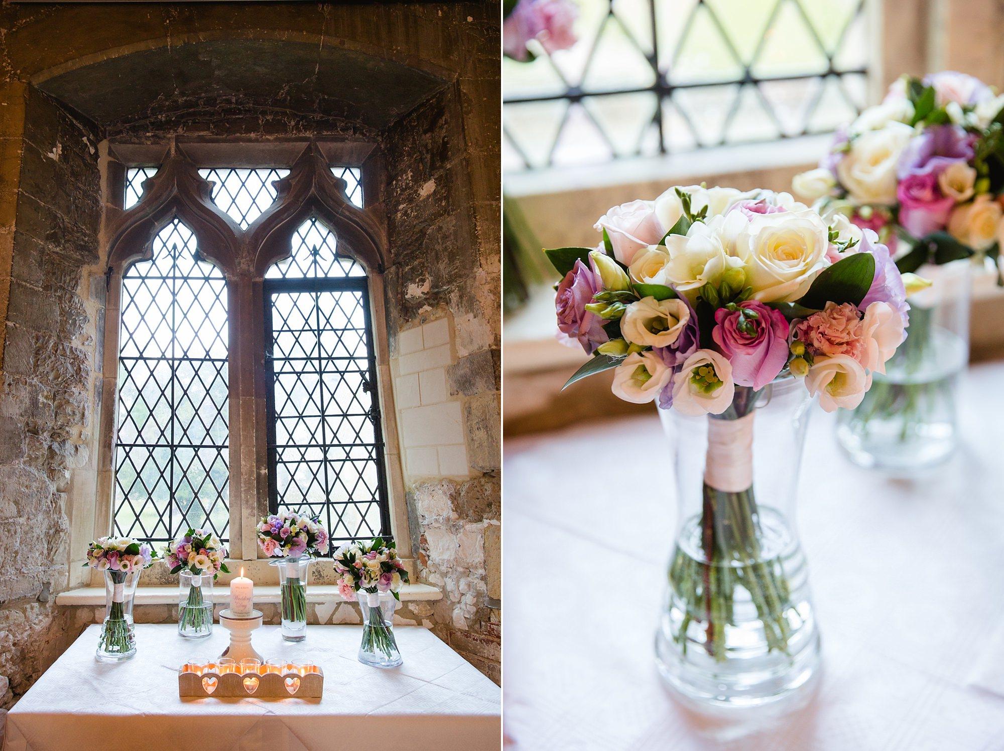 Canon Lane Chichester wedding bridal bouquet in window