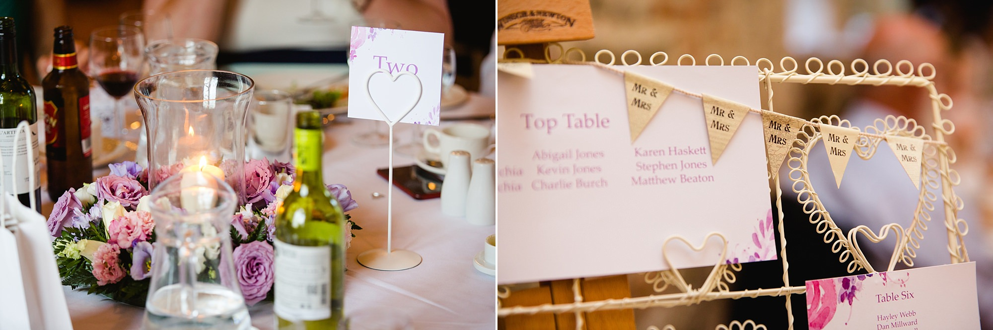Canon Lane Chichester wedding table decorations
