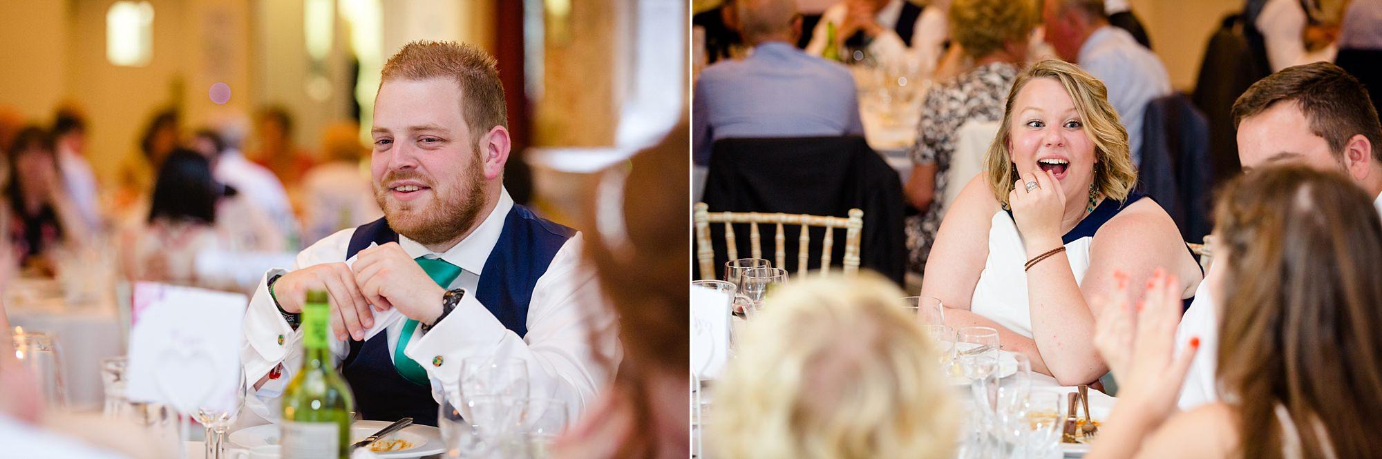 Canon Lane Chichester wedding wedding guests during breakfast
