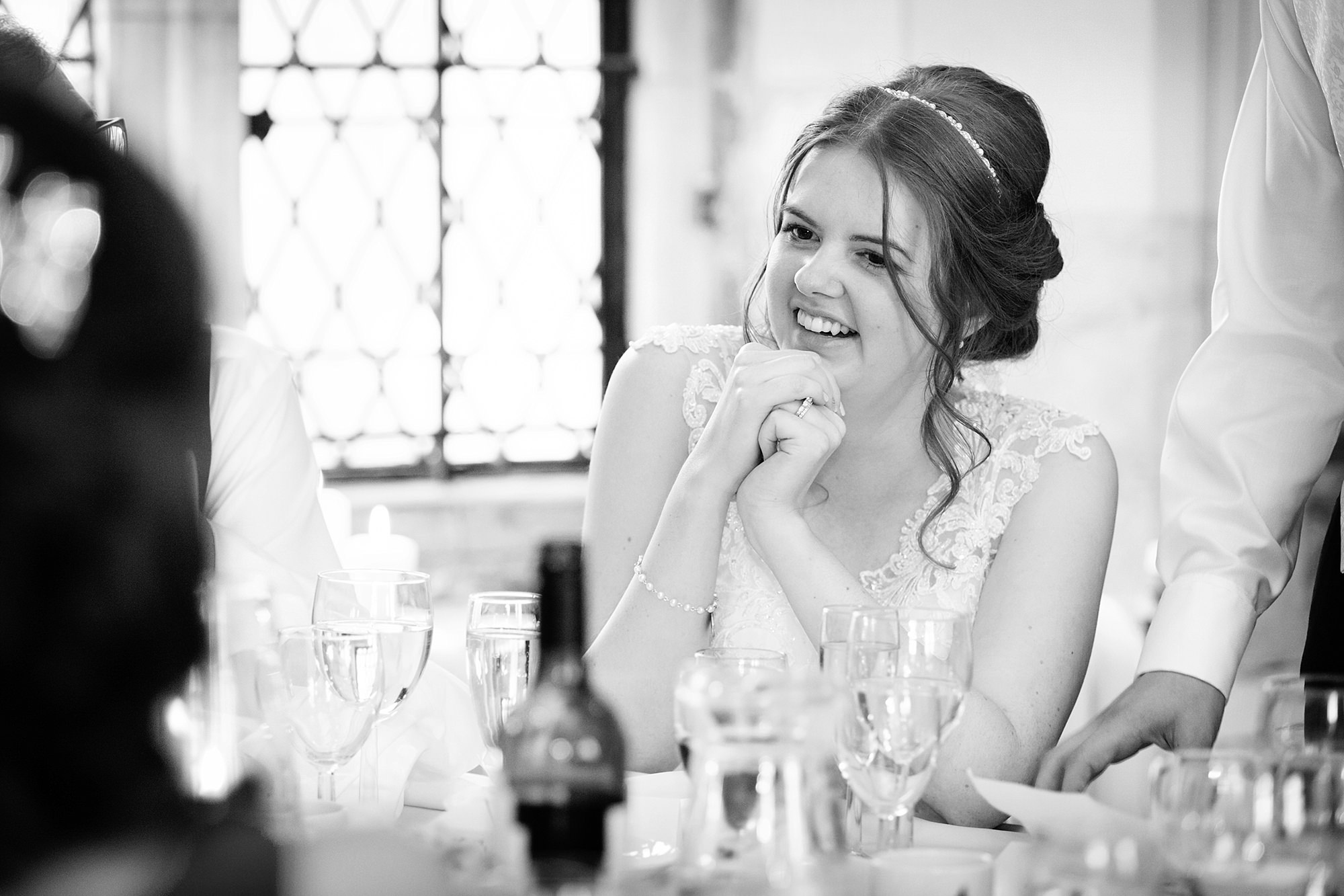 Canon Lane Chichester wedding bride during speeches