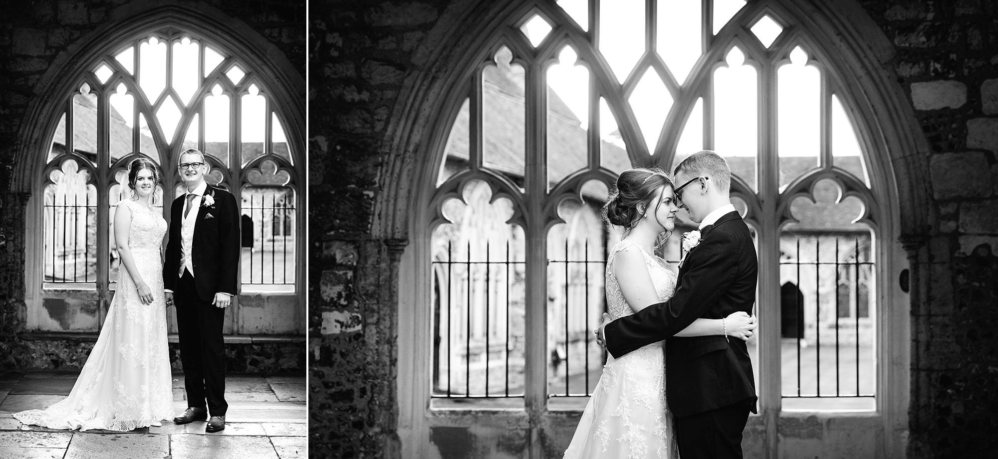 Canon Lane Chichester wedding couple at cathedral