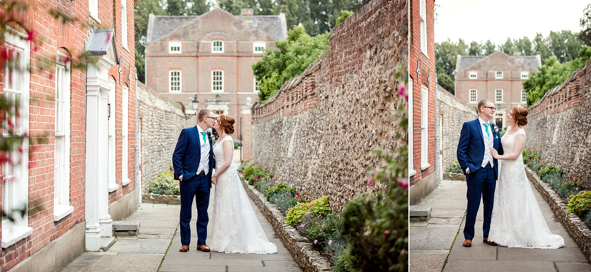 Canon Lane Chichester wedding couple outside chichester cathedral