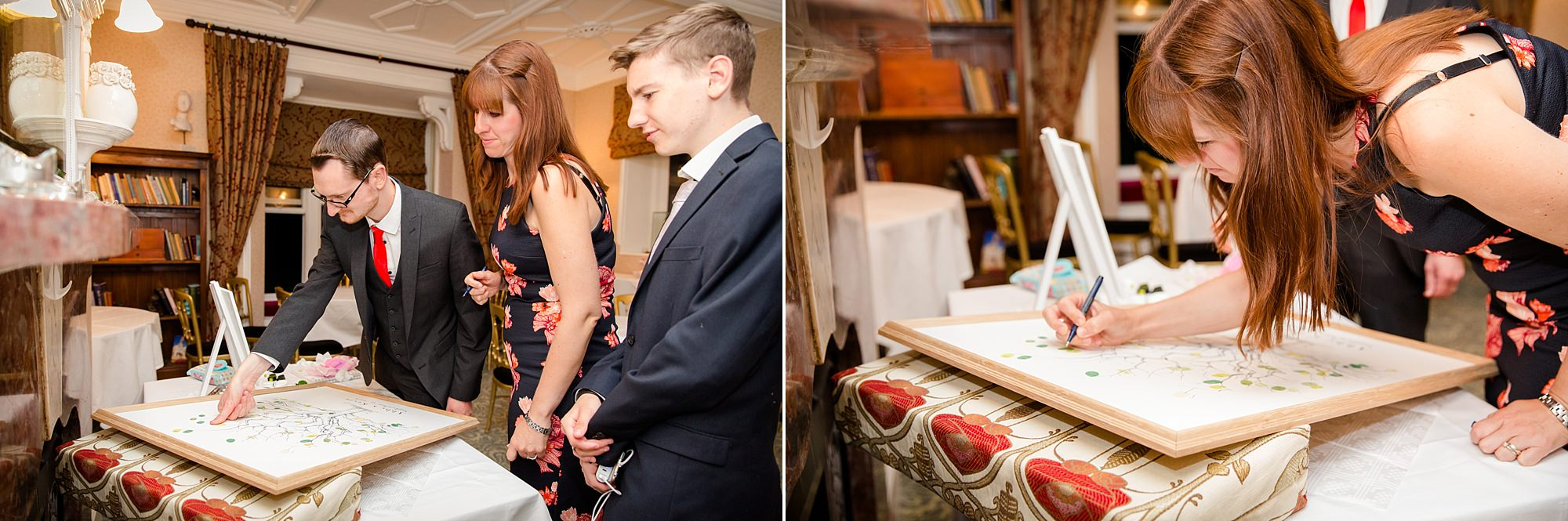 Canon Lane Chichester wedding guests signing guestbook