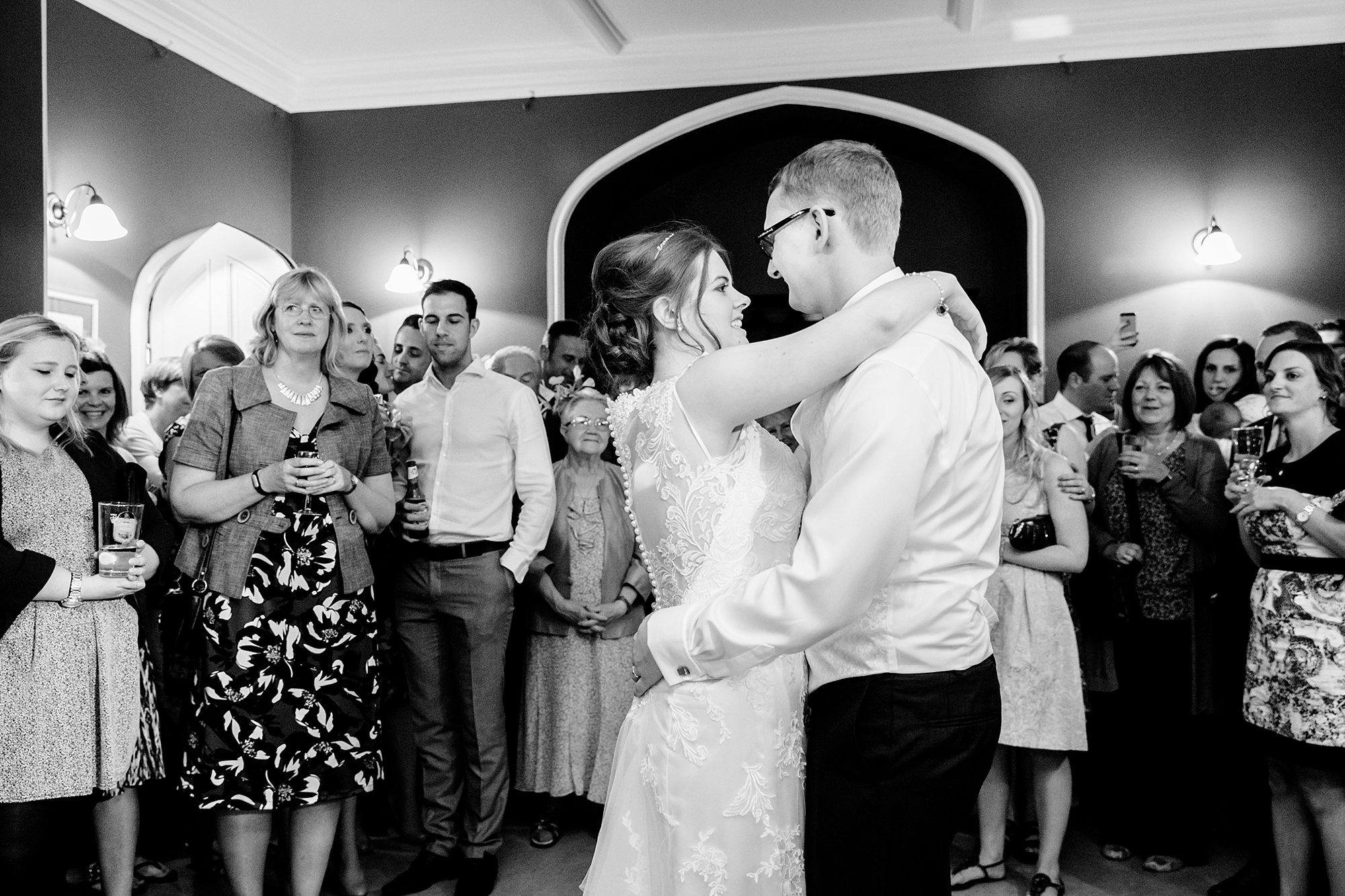 Canon Lane Chichester wedding bride and groom dancing