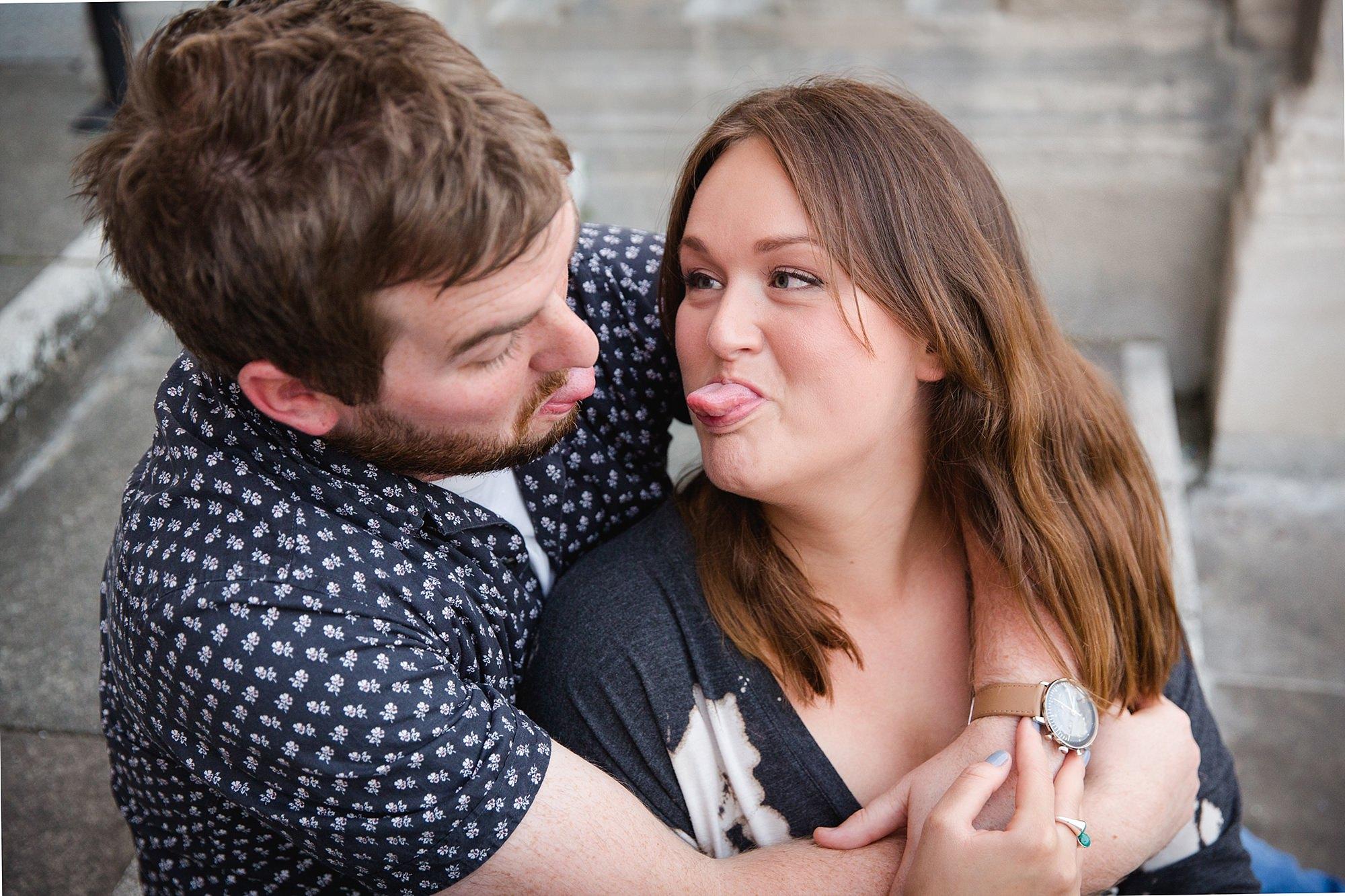 Croydon engagement photography fun couples portrait