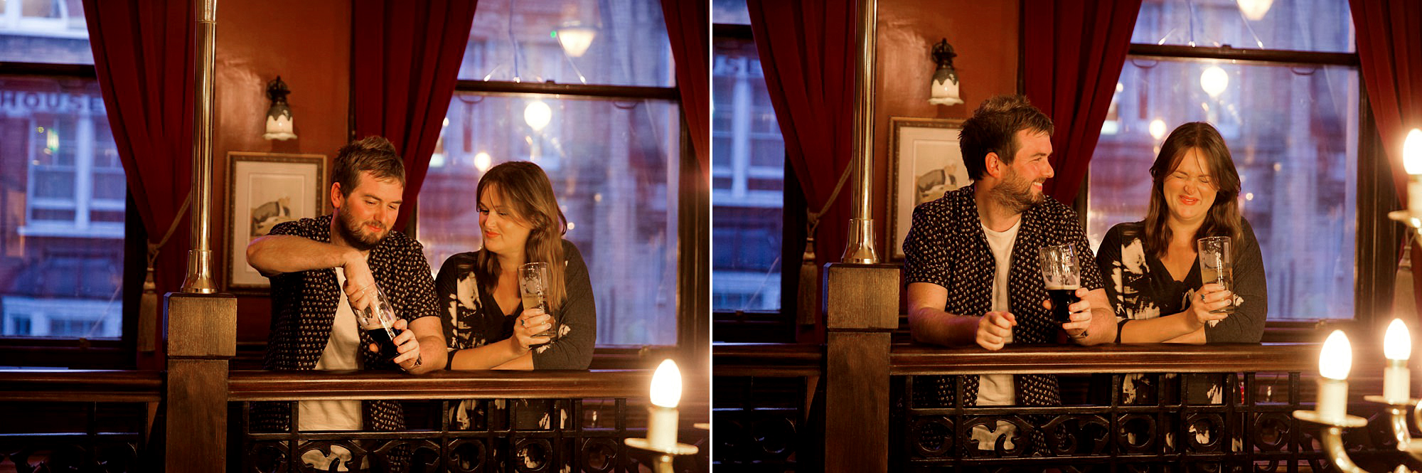 Croydon engagement photography in the local pub