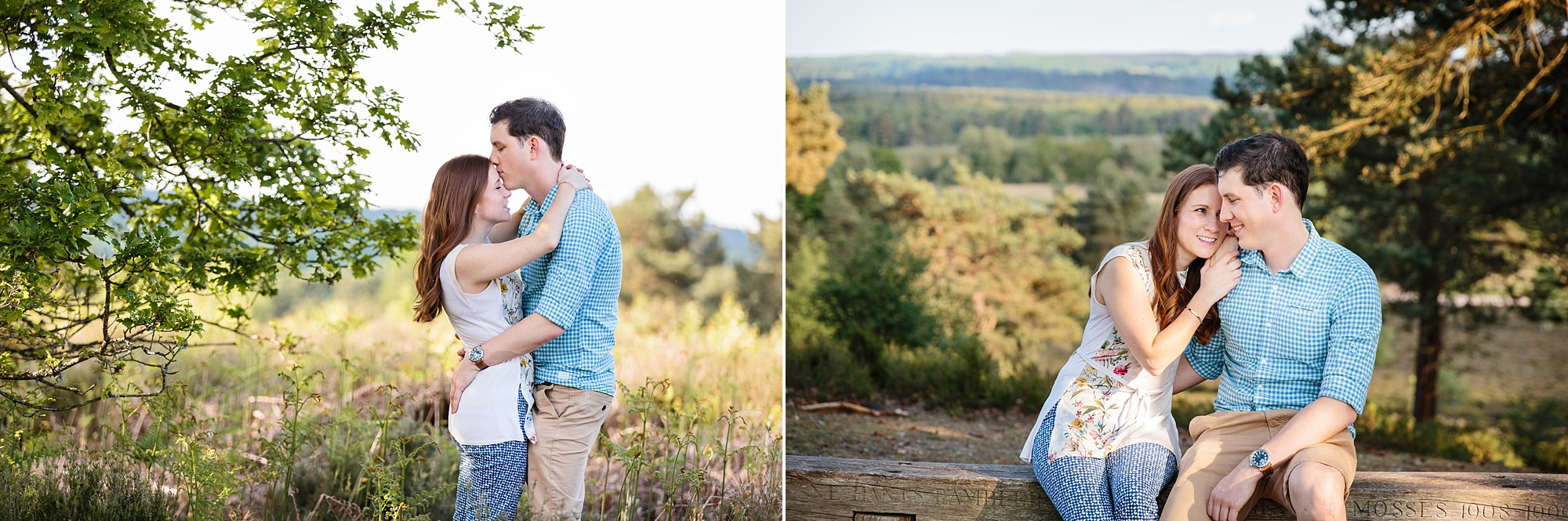 Farnham engagement photography at frensham pond