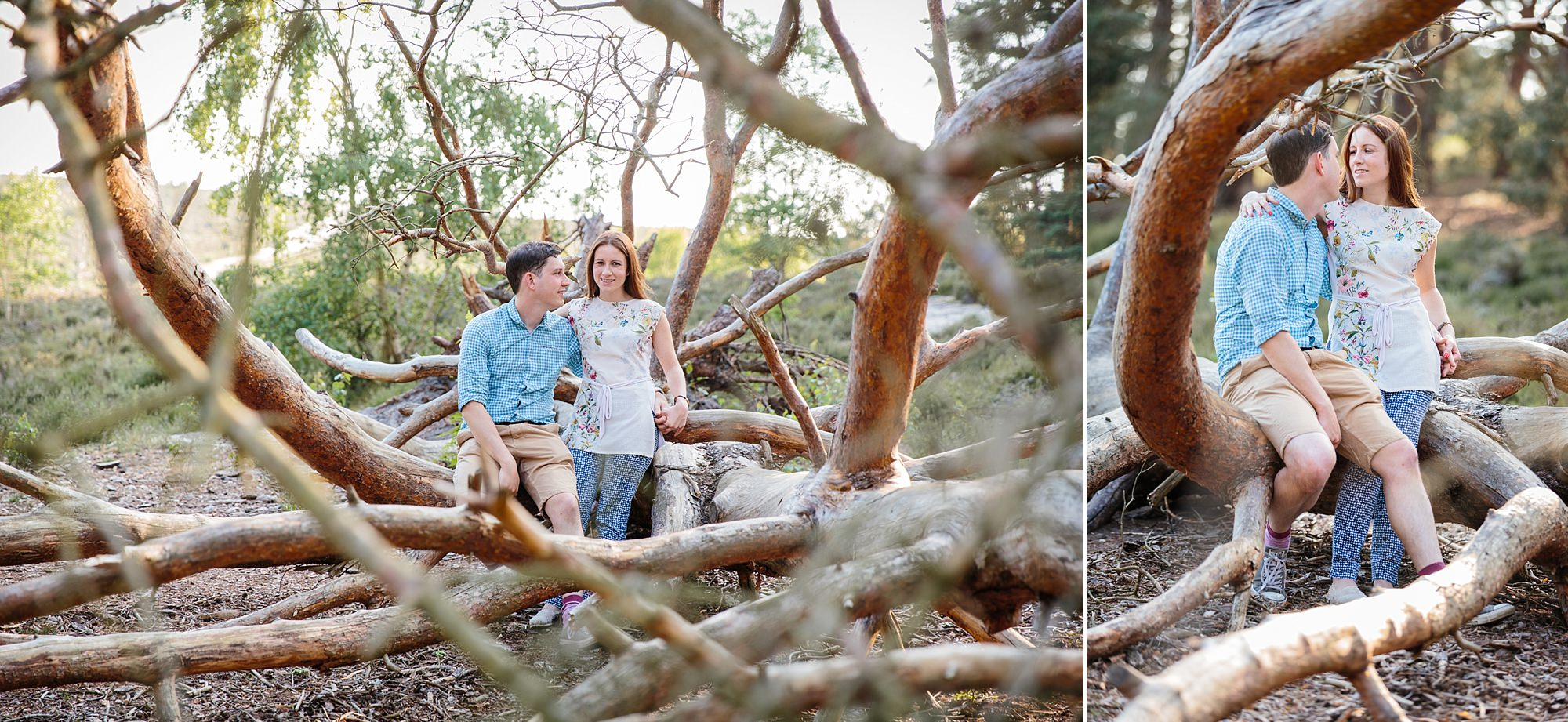 Farnham engagement photography at frensham ponds