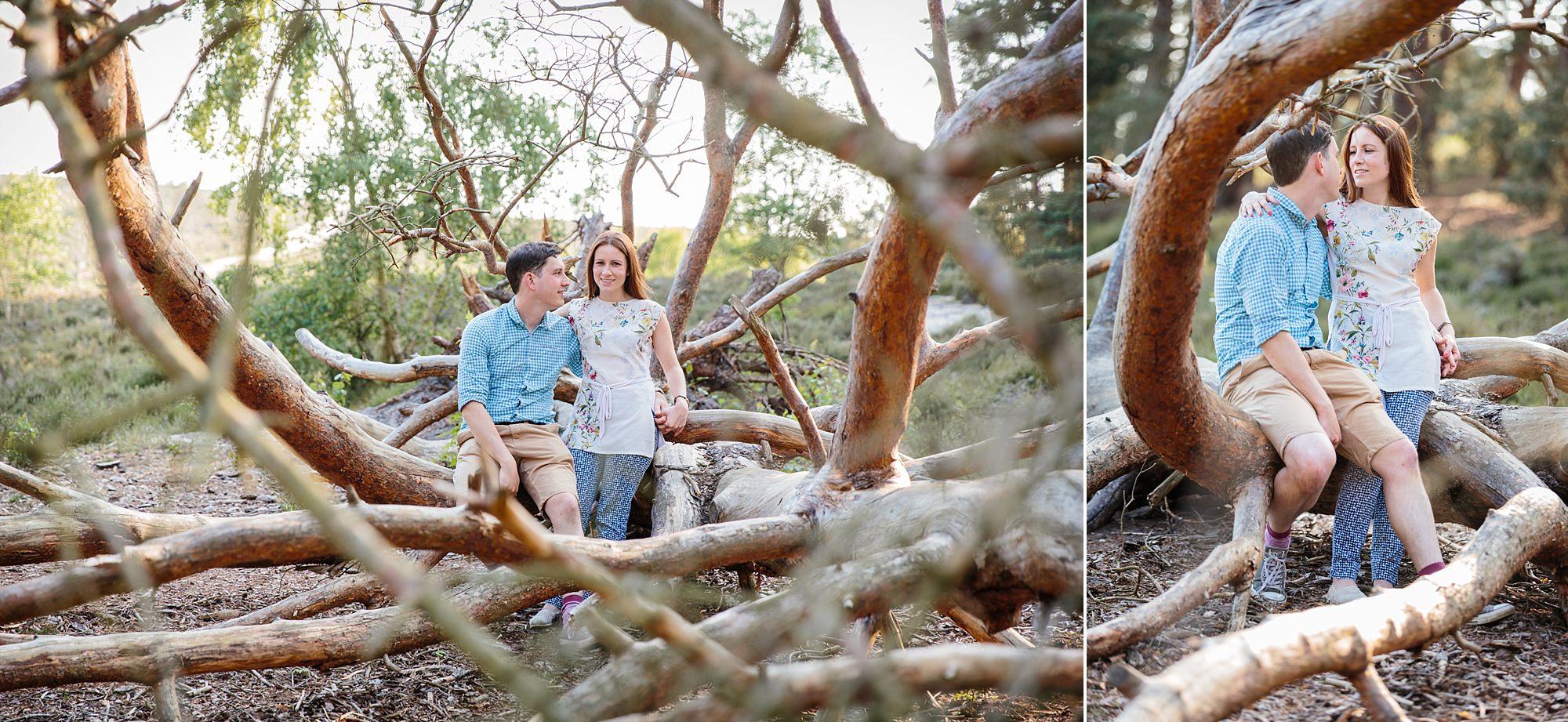 Farnham engagement photography at frensham ponds