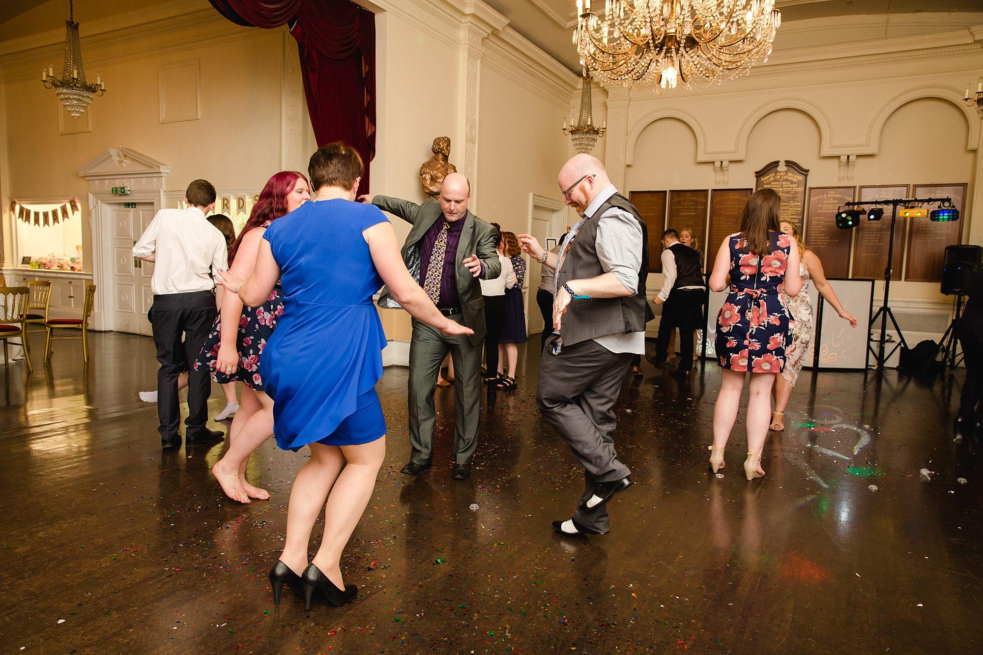 Trafalgar Tavern wedding partying guests